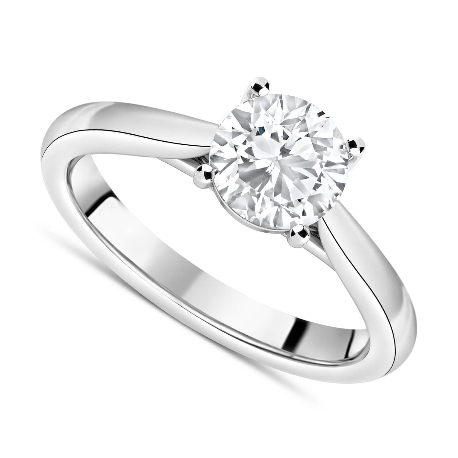 Platinum 1.50ct Round Diamond Fraser Hart Setting Ring