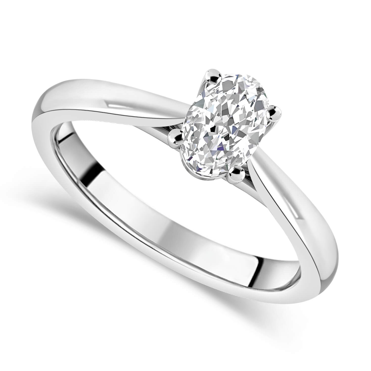 18ct White Gold 0.70ct Oval Diamond Fraser Hart Setting Ring