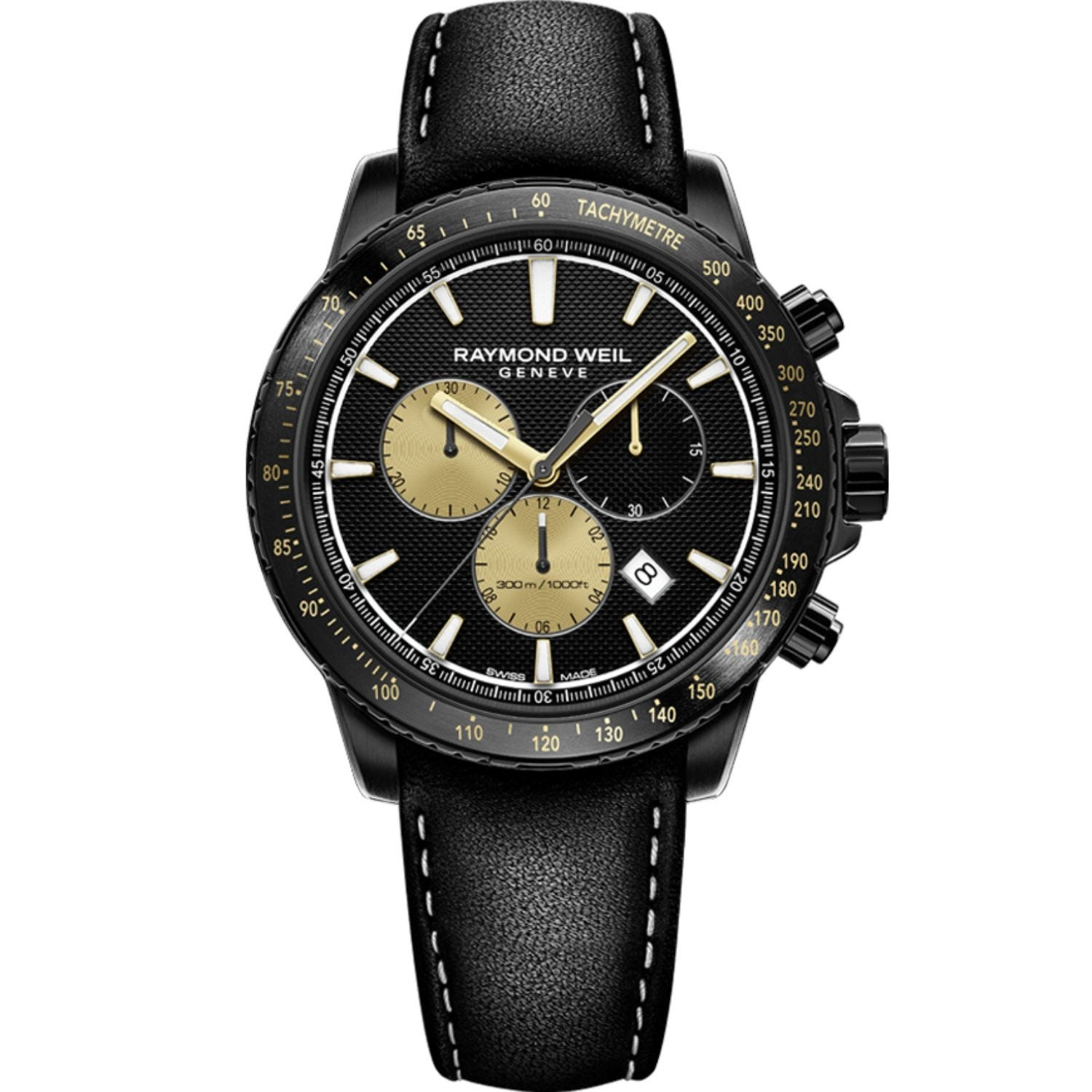 Raymond Weil Limited Edition Marshall 43mm Black PVD Chrono Black Strap Watch