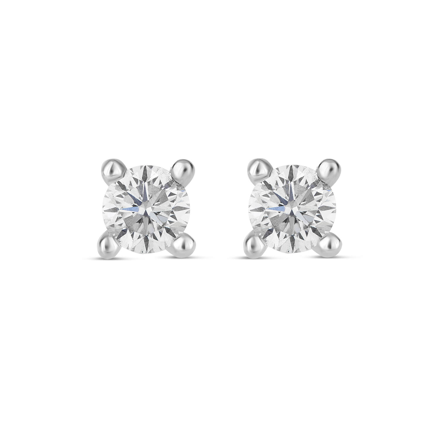 9ct White Gold 0.40ct Diamond Fraser Hart Setting Earrings