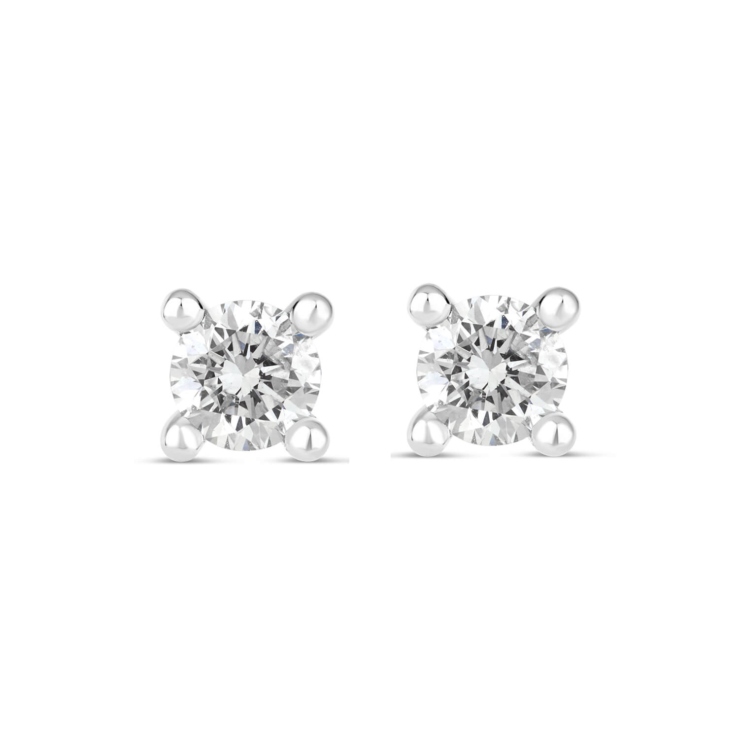 18ct White Gold 0.50ct Diamond Fraser Hart Setting Earrings