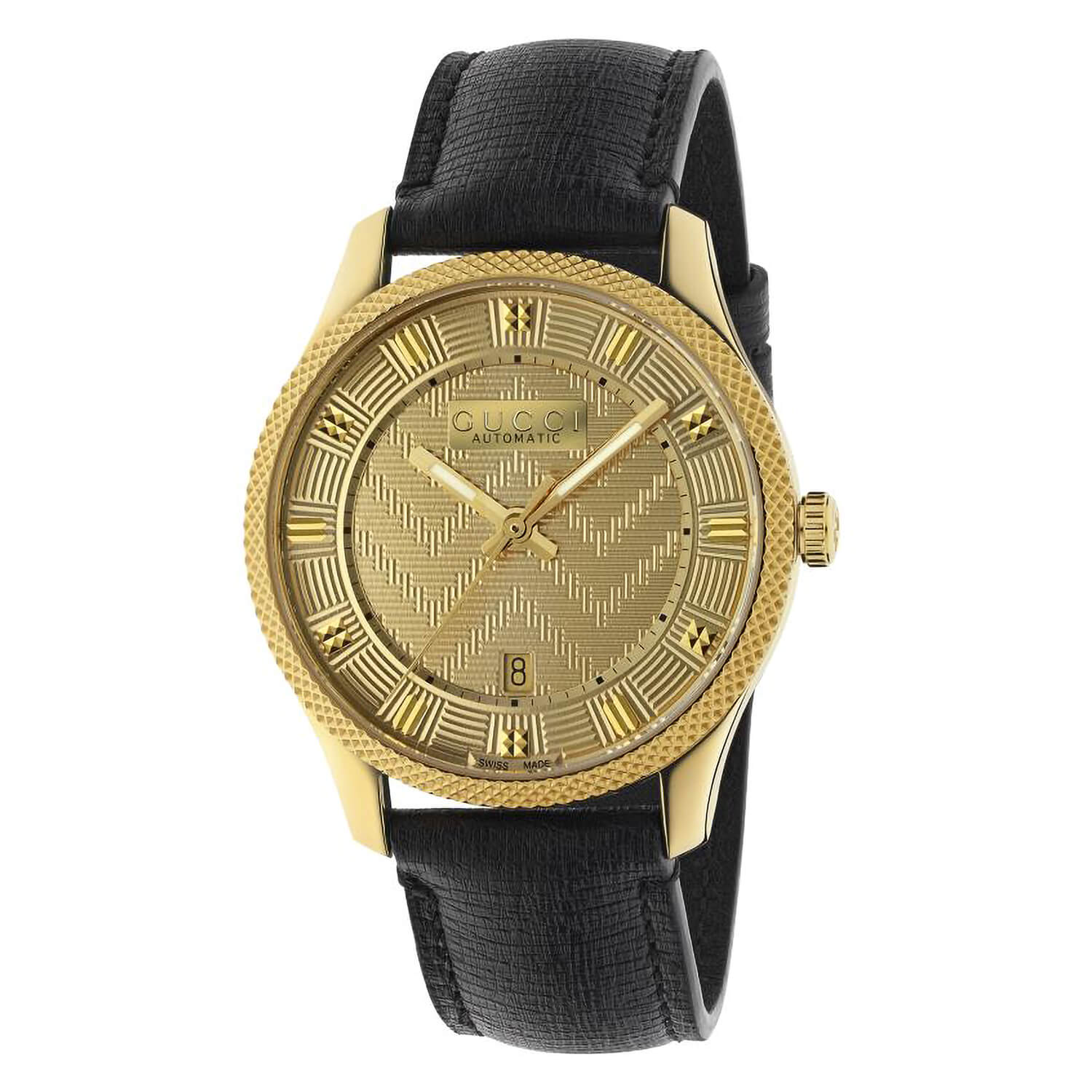 Gucci G-Timeless Eryx Gold & Leather 40mm Men's Watch