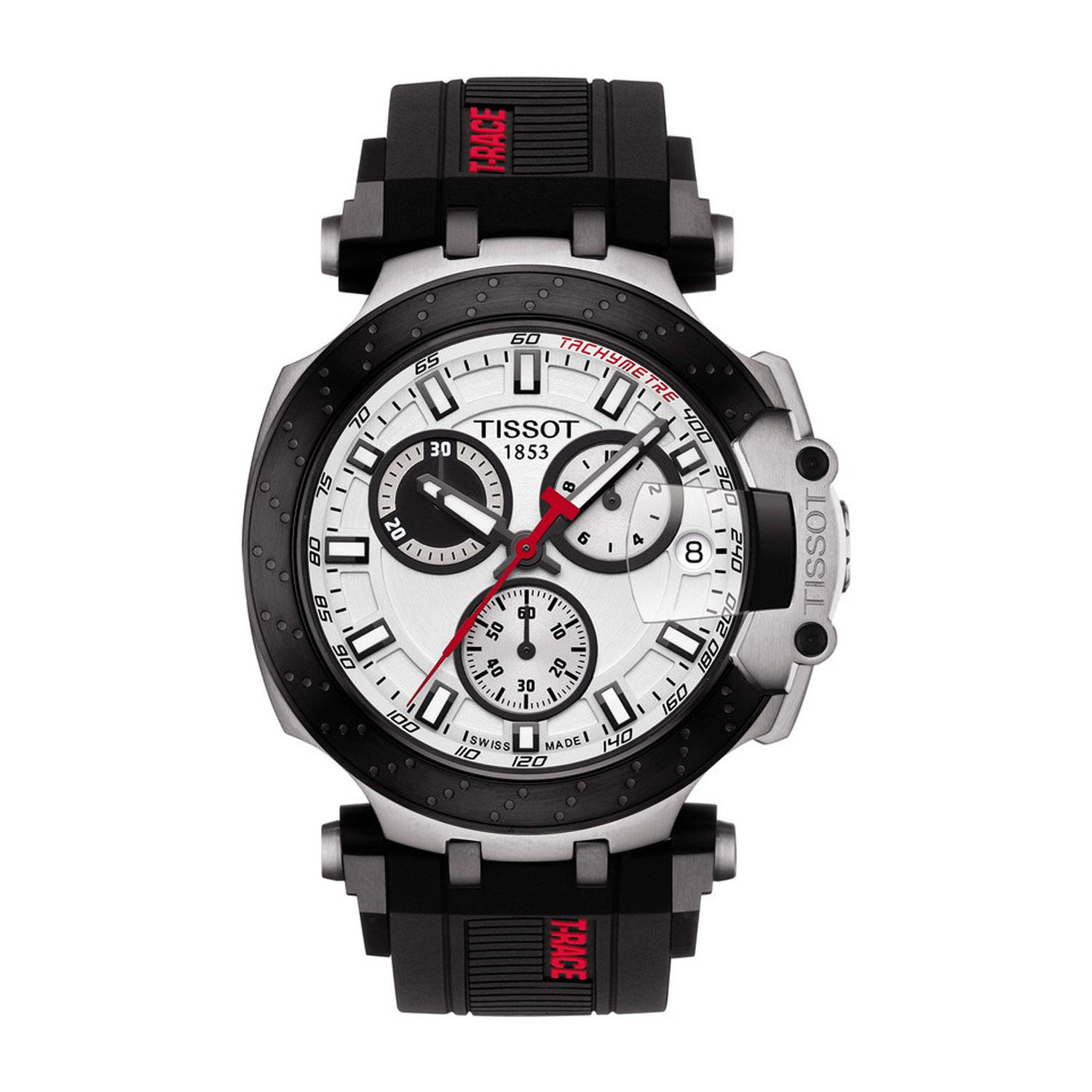 Tissot T-Race Chronograph Black Rubber 43mm Men's Watch