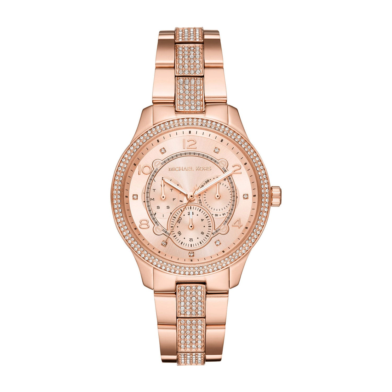 Michael Kors Runway Rose Gold Crystal 38mm Ladies' Watch