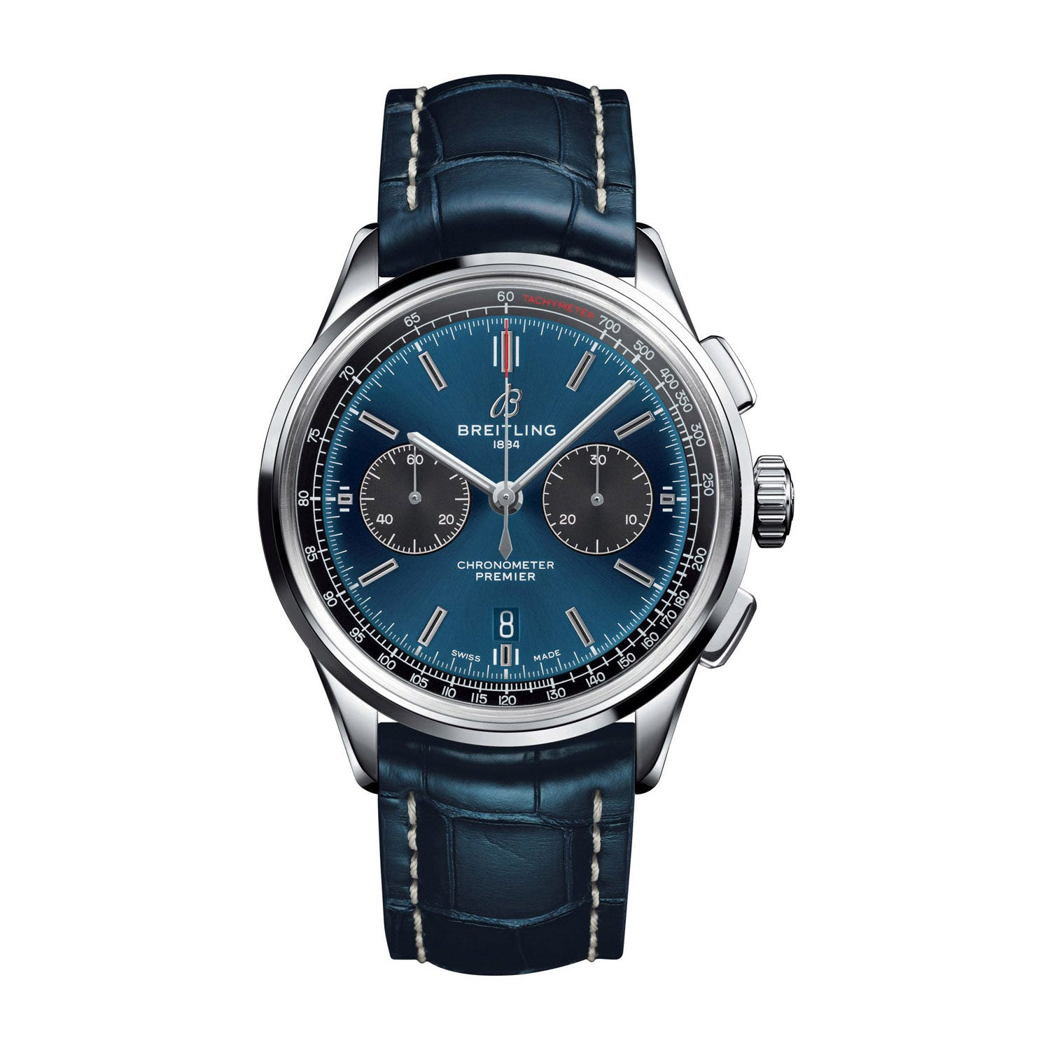 Breitling Premier B01 Blue Leather 42mm Men's Watch