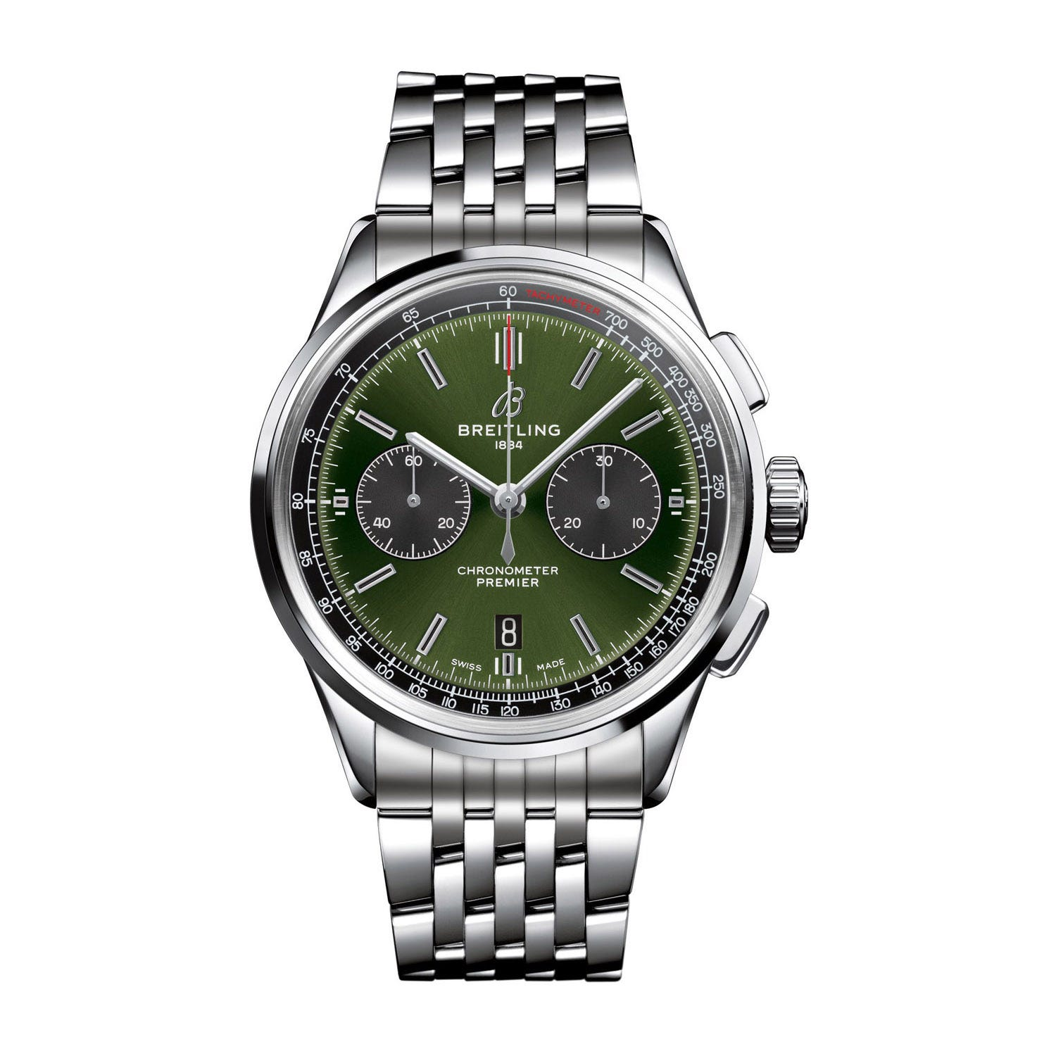 Breitling Premier Bentley Green Steel 42mm Men's Watch