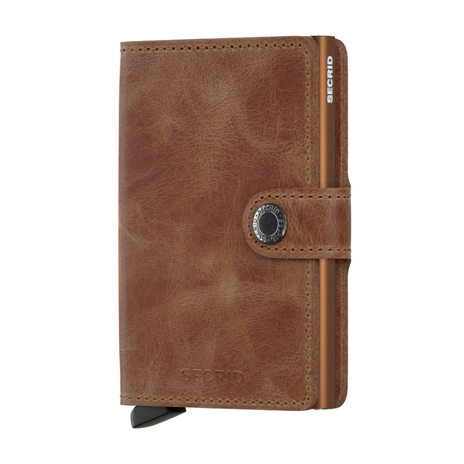 Secrid Vintage Cognac-Rust Leather Miniwallet