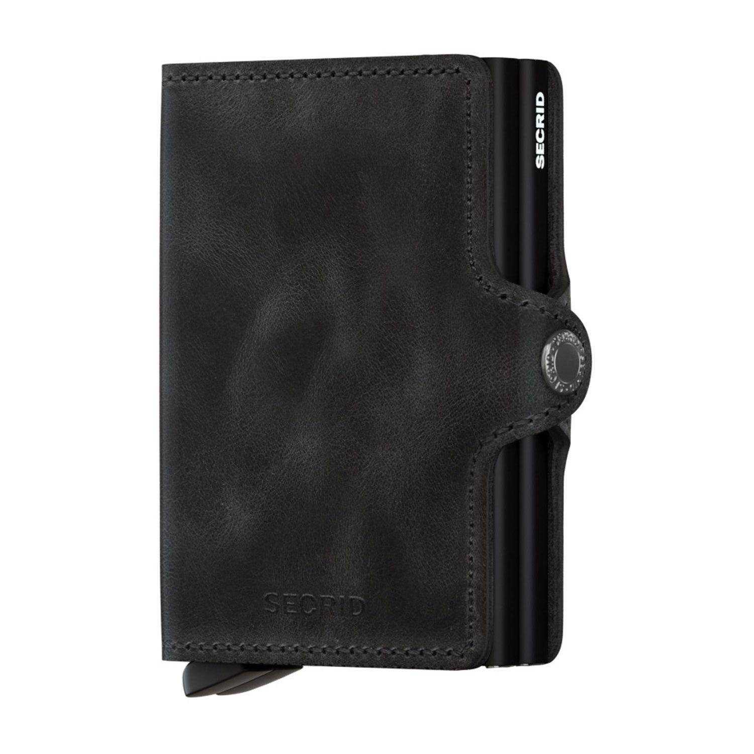 Secrid Vintage Black Leather Twinwallet