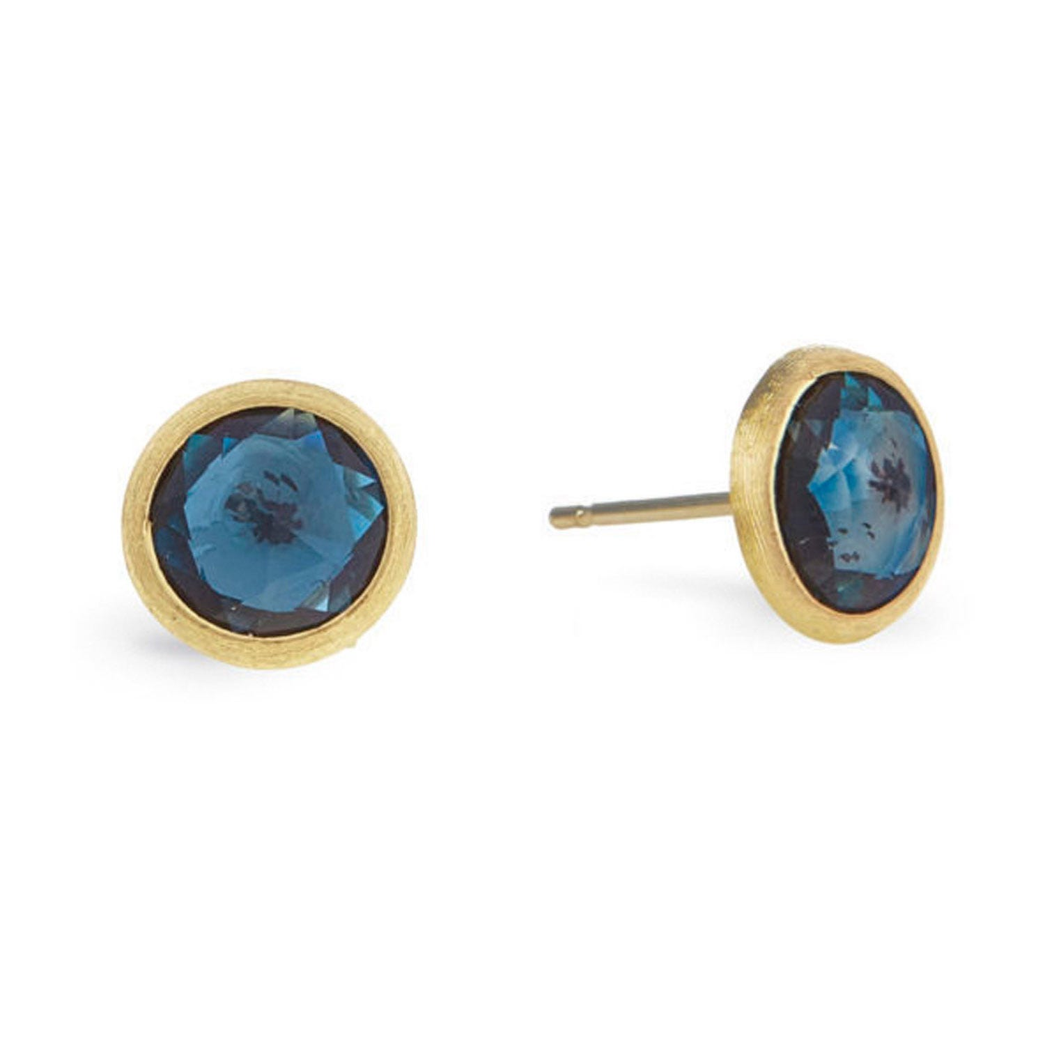 Marco Bicego Jaipur 18ct Yellow Gold Blue Topaz Stud Earrings