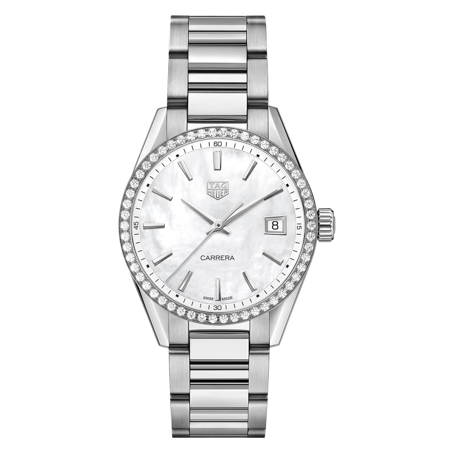 TAG Heuer Carrera Diamond Bezel & Pearl 36mm Ladies' Watch