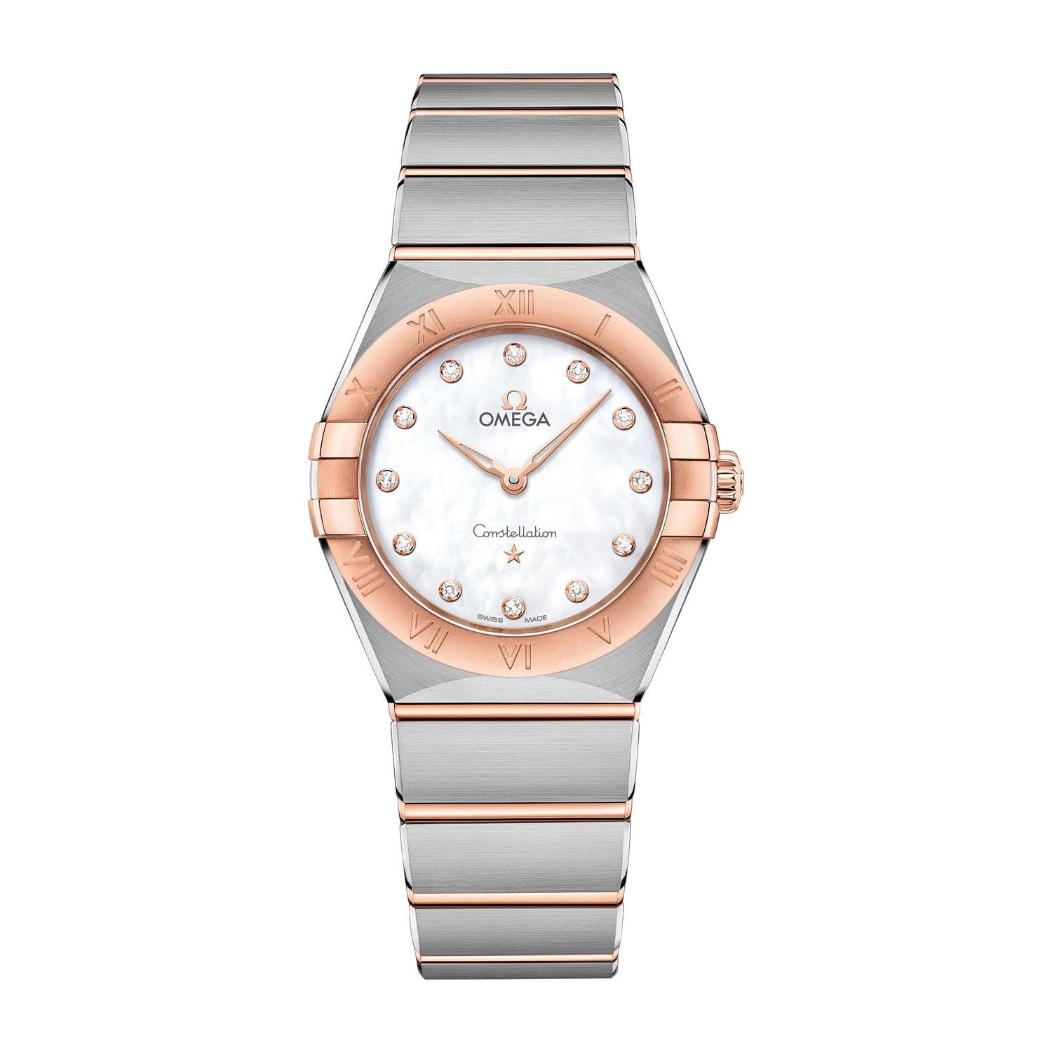 Omega Constellation Rose Gold Diamond Dial 28mm Ladies' Watch
