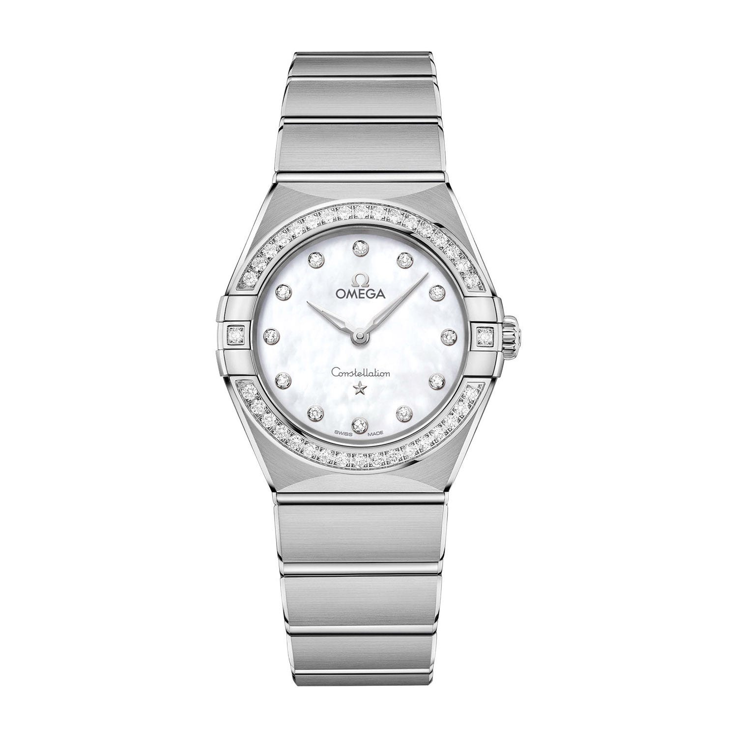 Omega Constellation Diamond & Pearl 28mm Ladies' Watch