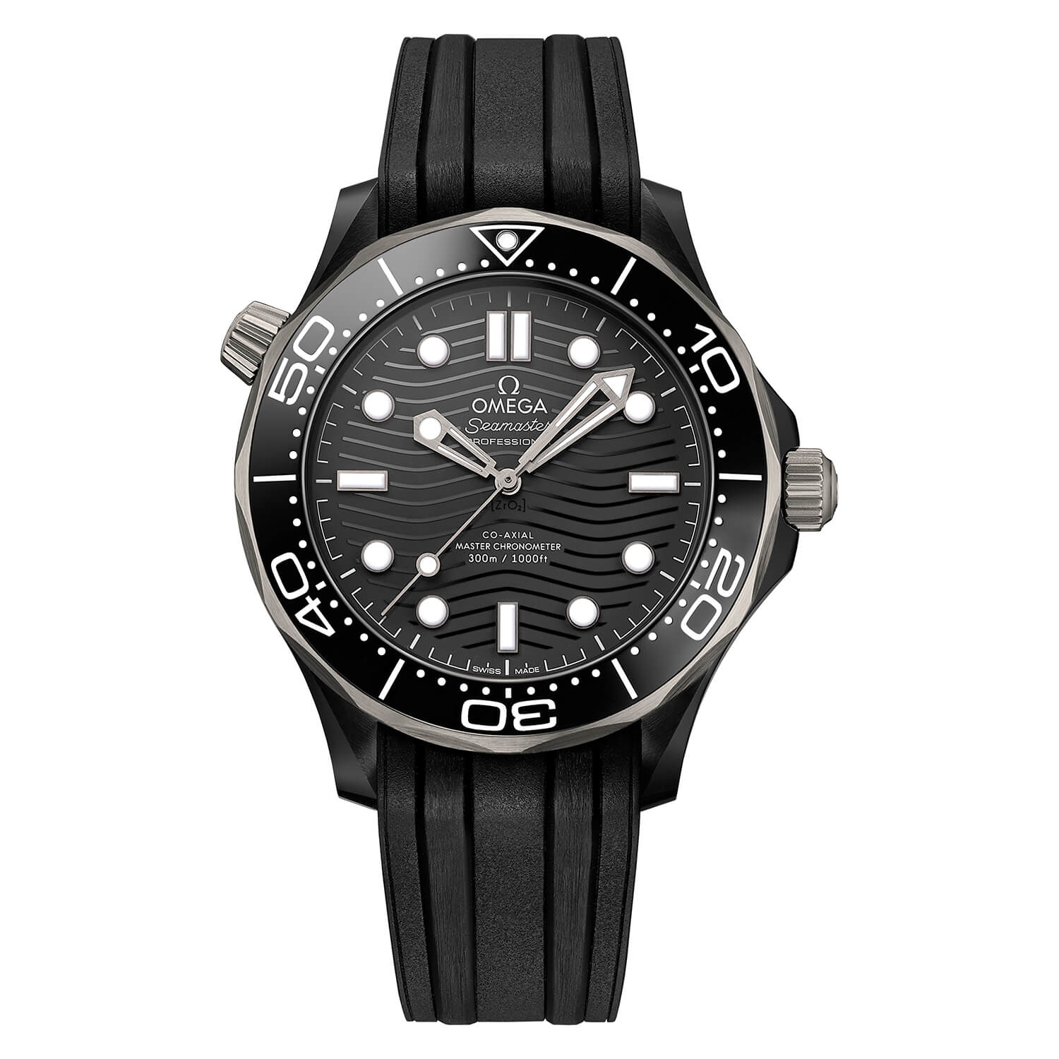 Omega Seamaster Co-Axial Master Chronometer Black 43.5mm Mens Watch