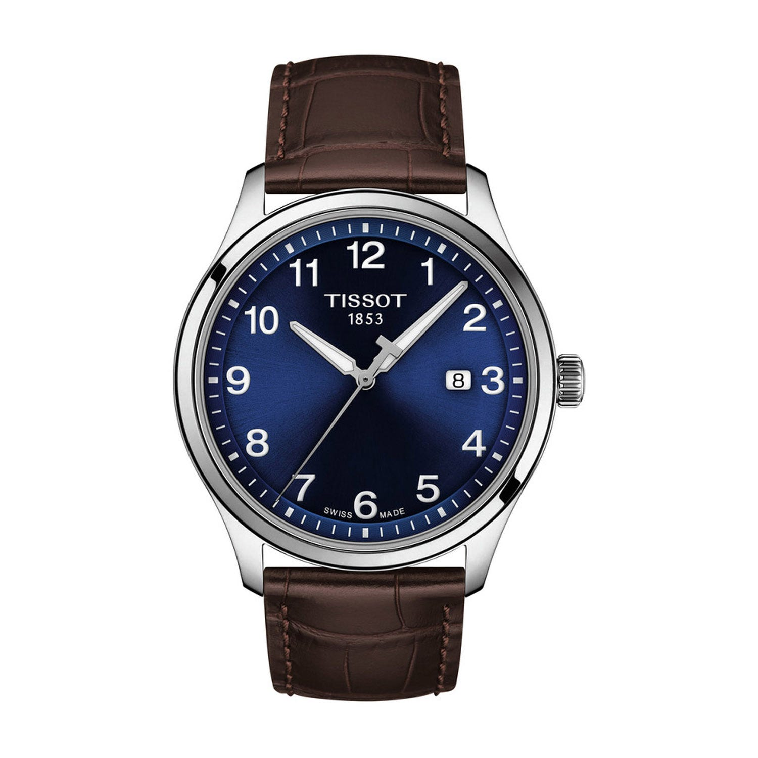 Tissot Gent XL Blue Dial Brown Leather 42mm Men's Watch