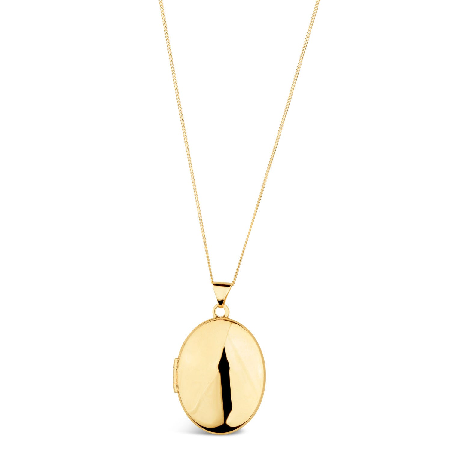 9ct Yellow Gold Oval Locket Pendant