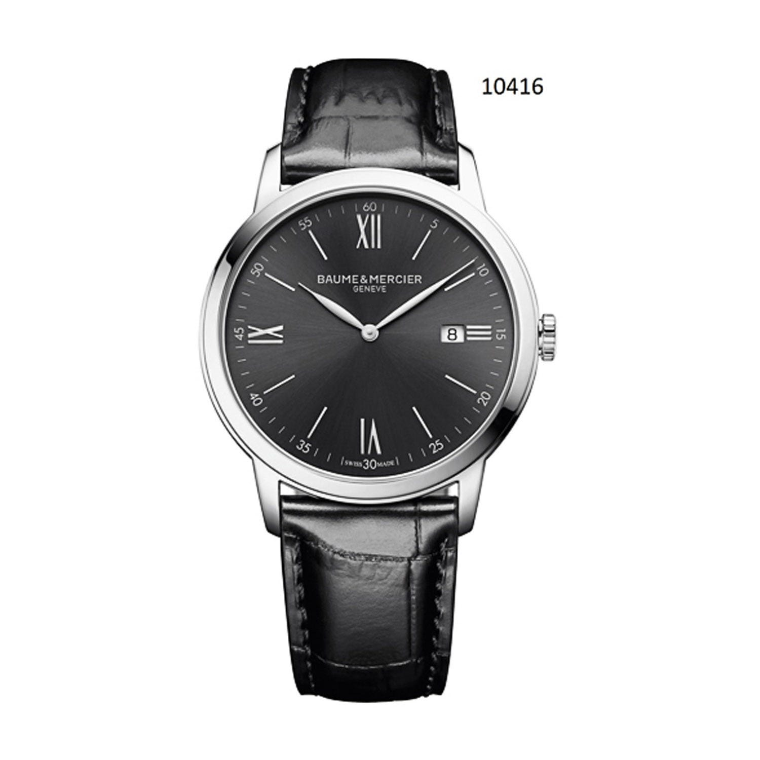 Baume & Mercier Classima  Black and Grey 42mm Men's Watch