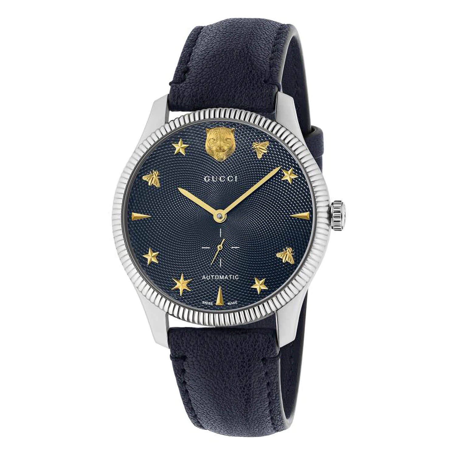 Gucci G-Timeless Mens Automatic Navy Strap Watch
