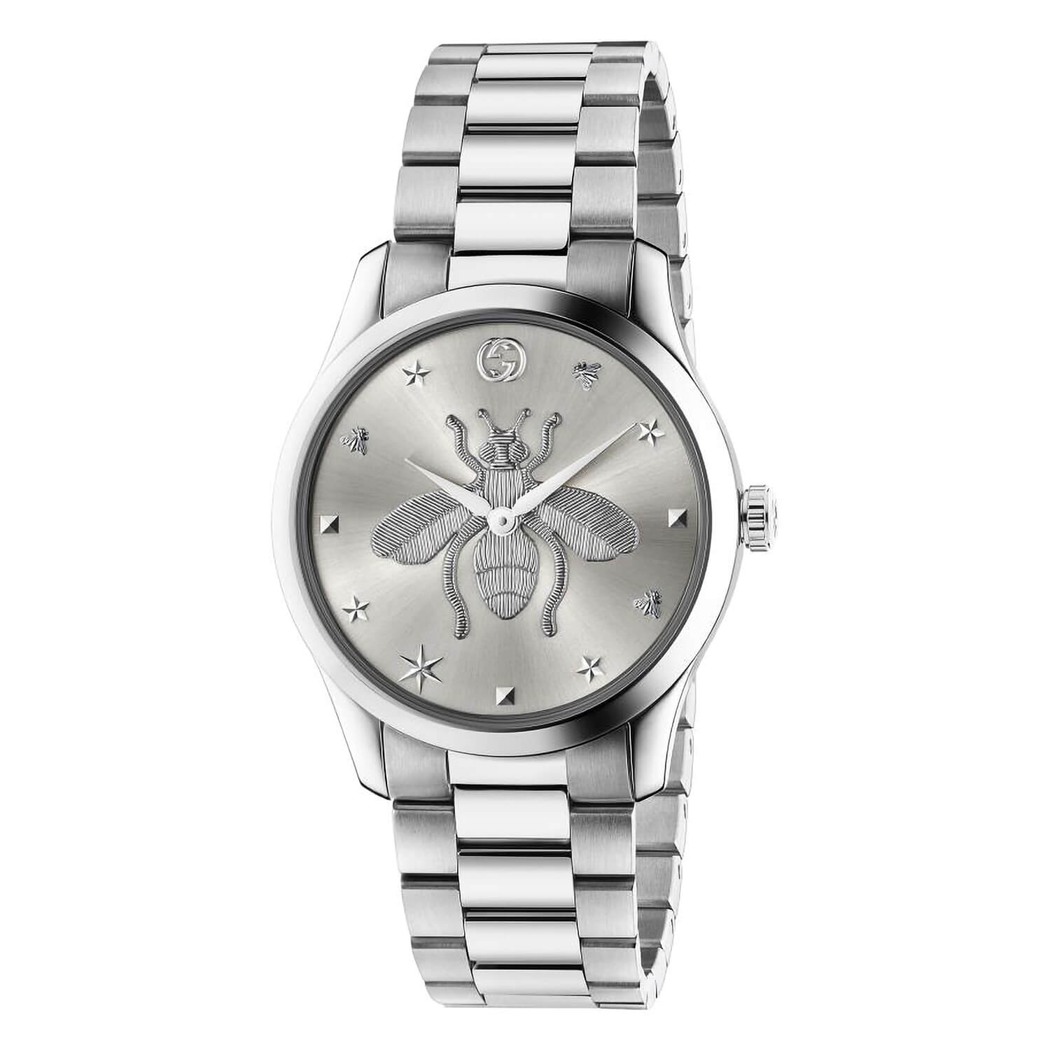 Gucci G-Timeless Stainless Steel Bee Motif Bracelet Watch