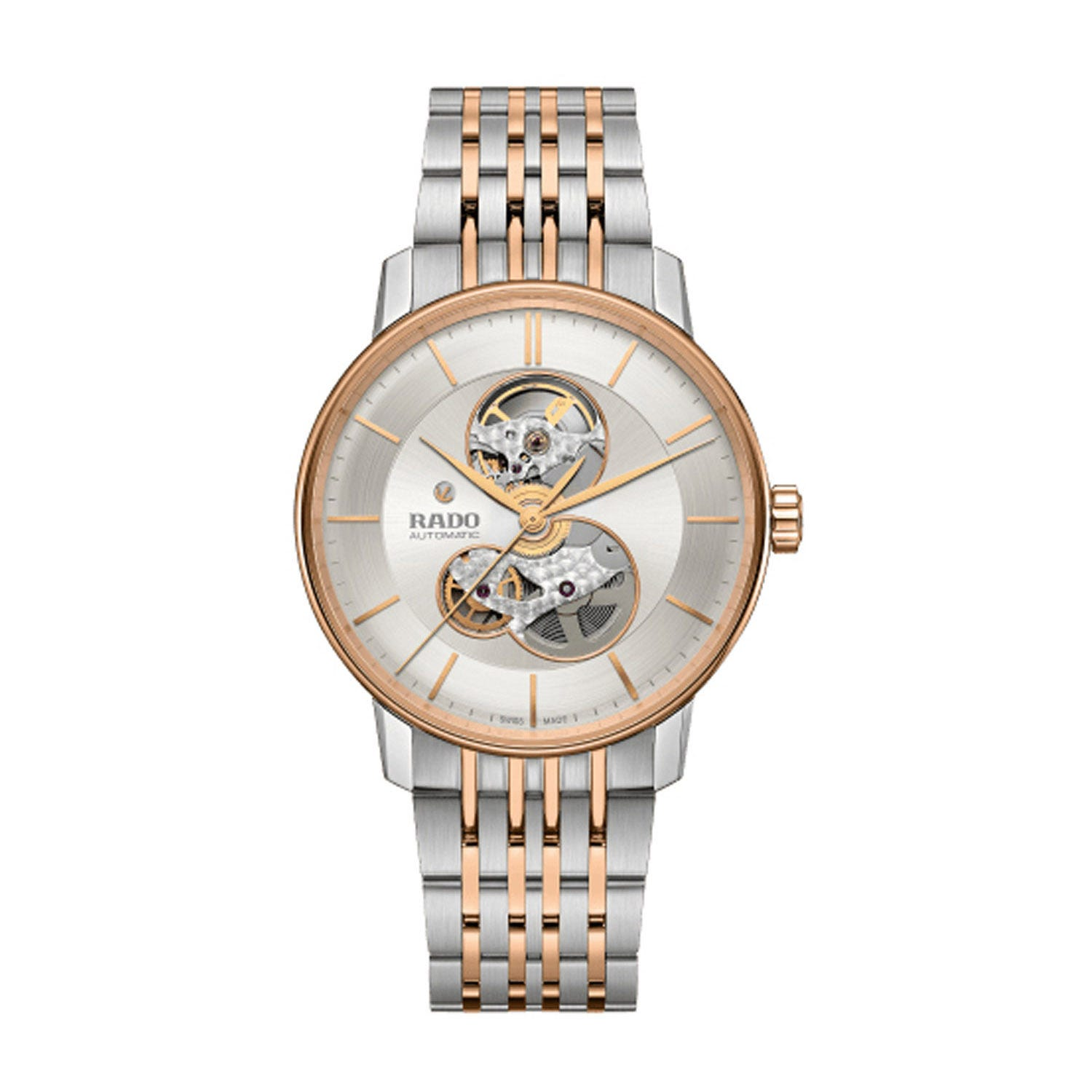 Rado Coupole Classic Skeleton Dial Steel & Rose Gold PVD Watch