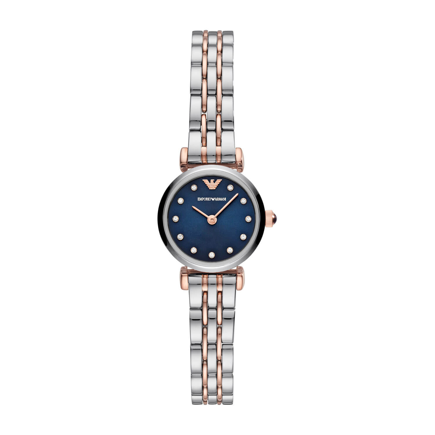 Emporio Armani T-Bar Blue Dial & Stainless Steel Bracelet 22mm Watch