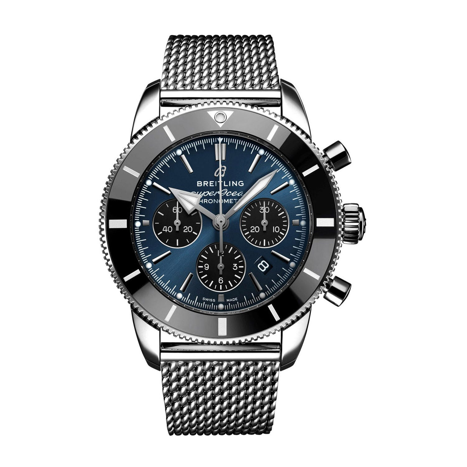 Breitling Superocean Heritage B01 Chronograph 44 Steel & Blue Men's Watch