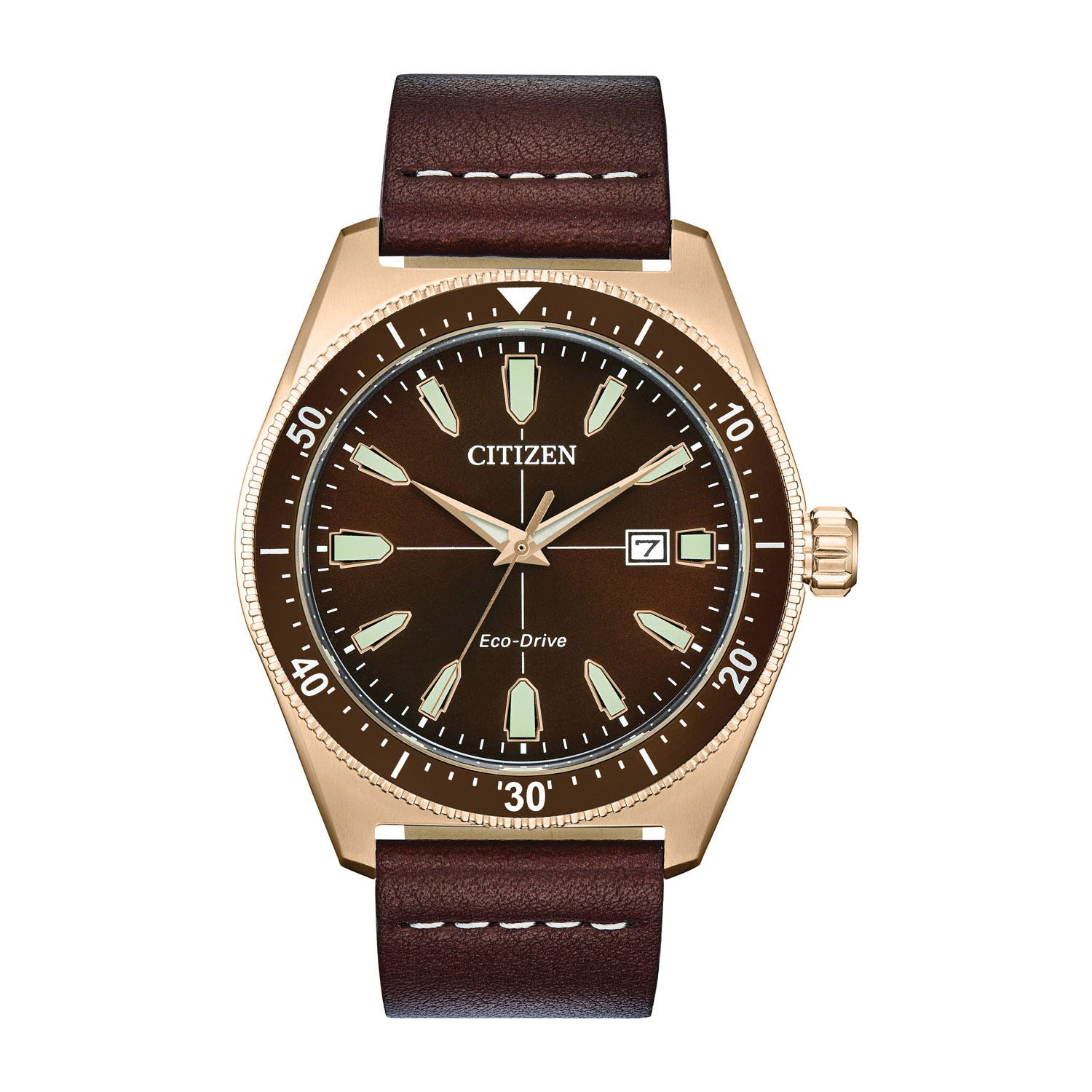 Citizen Vintage Brycen Sport Brown Leather Strap Men's Watch