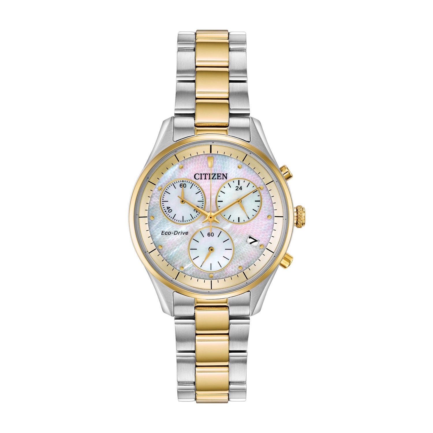 Citizen Silhouette Chronograph Stainless Steel & Mother-Of-Pearl Ladies Watch