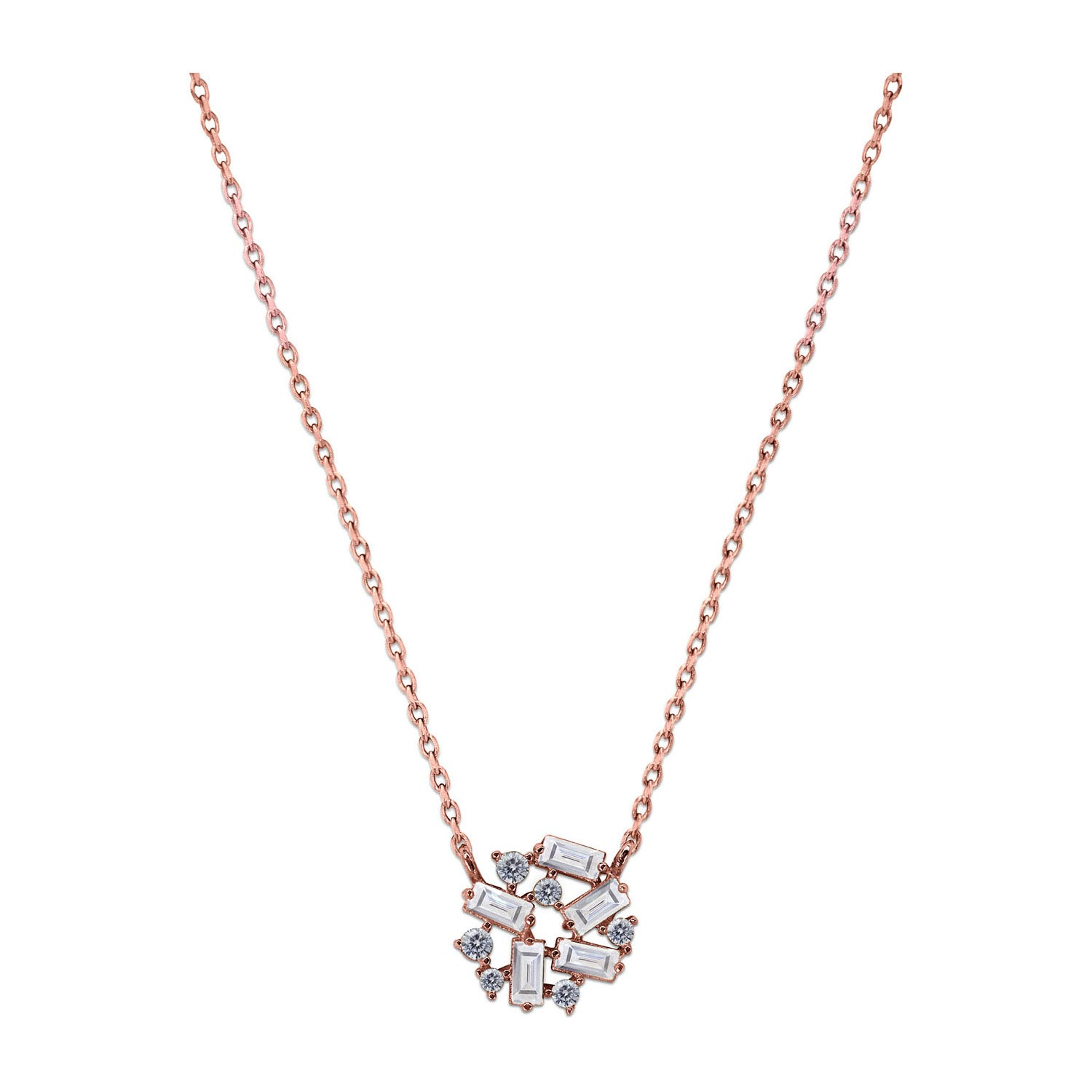 CARAT* London 9ct Rose Gold Rina Pendant