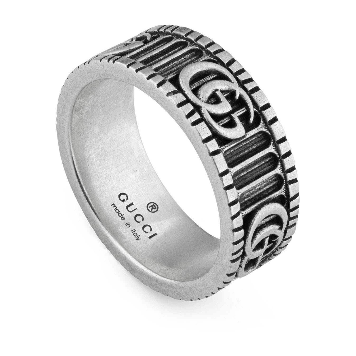 Gucci Marmont Double G Sterling Silver Ring Size M
