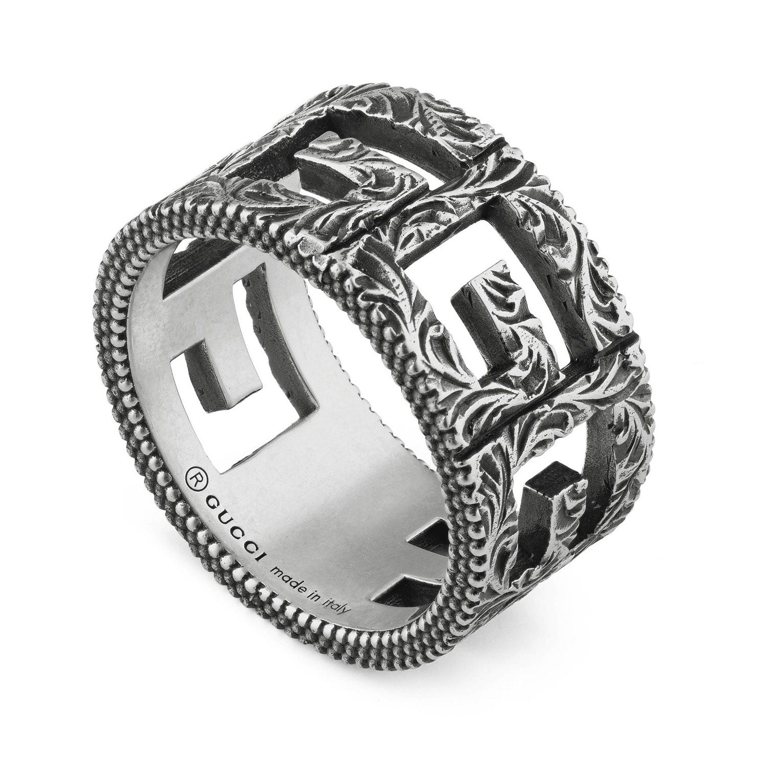 Gucci Square G Motif Sterling Silver Ring