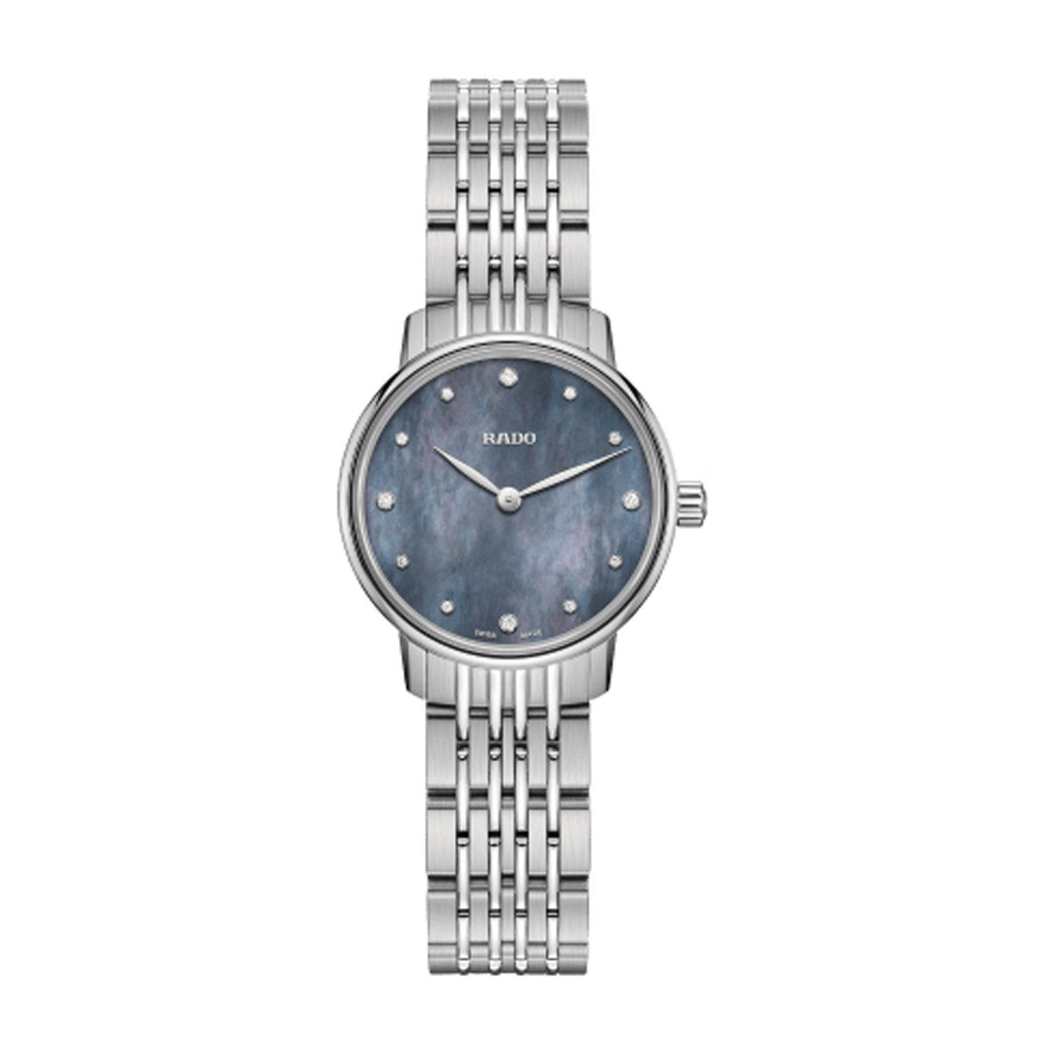 Rado Coupole Classic Diamonds Blue Mother Of Pearl & Steel Watch