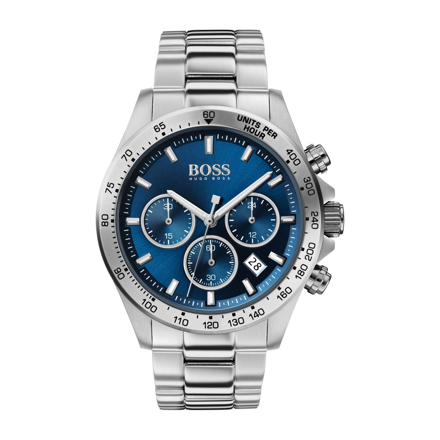 Hugo Boss Hero Sport Lux Blue Dial & Steel Bracelet Men's Watch