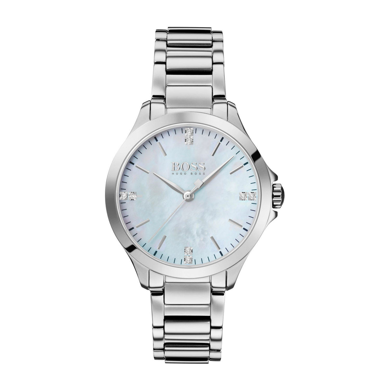 Hugo Boss Diamonds For Her White Dial & Stainless Steel Ladies' Watch
