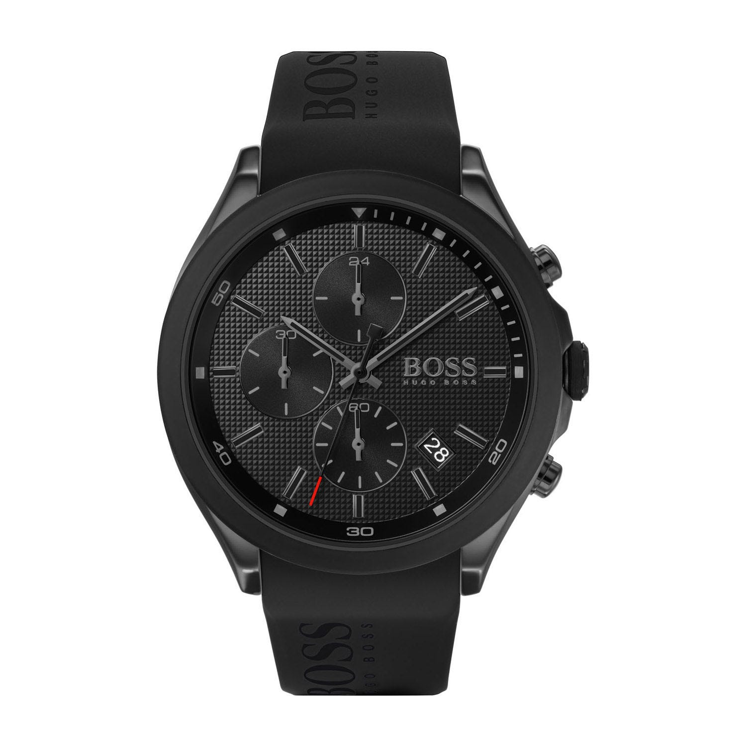 Hugo Boss Velocity Chronograph Black Dial & Silicone Men's Watch
