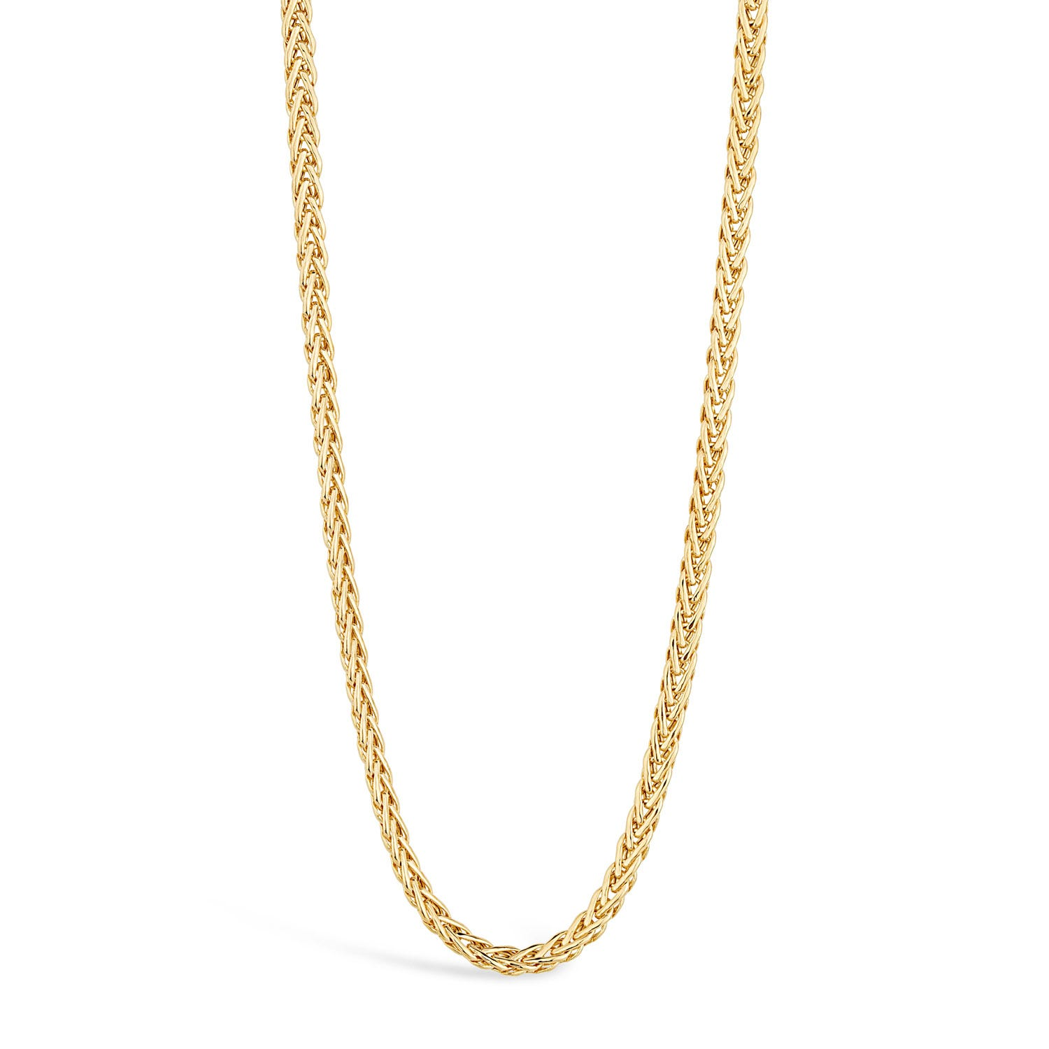 9ct Yellow Gold Flat Polished Woven Necklet