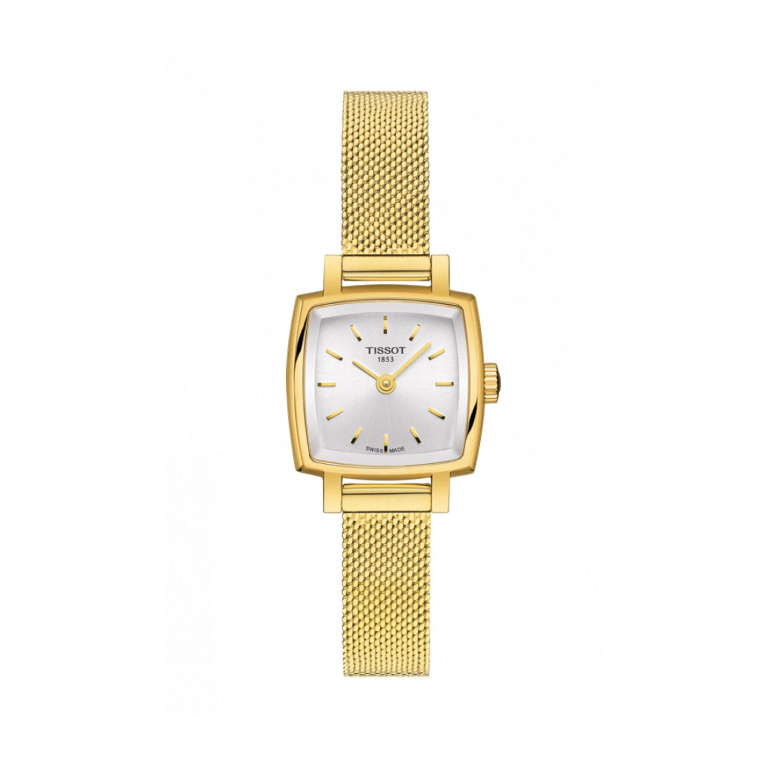 Tissot Lovely Square Yellow Gold-Toned Bracelet Strap 20mm Ladies' Watch