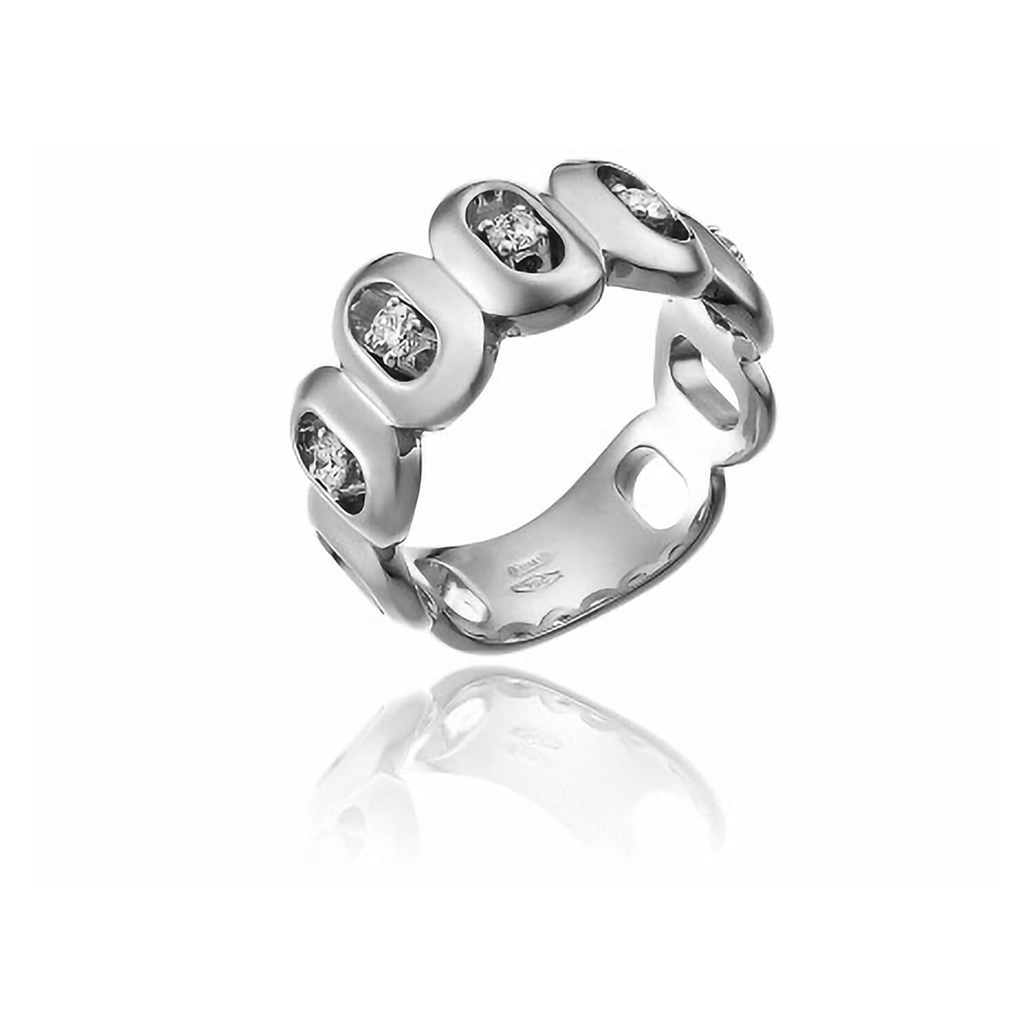 Chimento 18ct White Gold Double Optima Band Ring