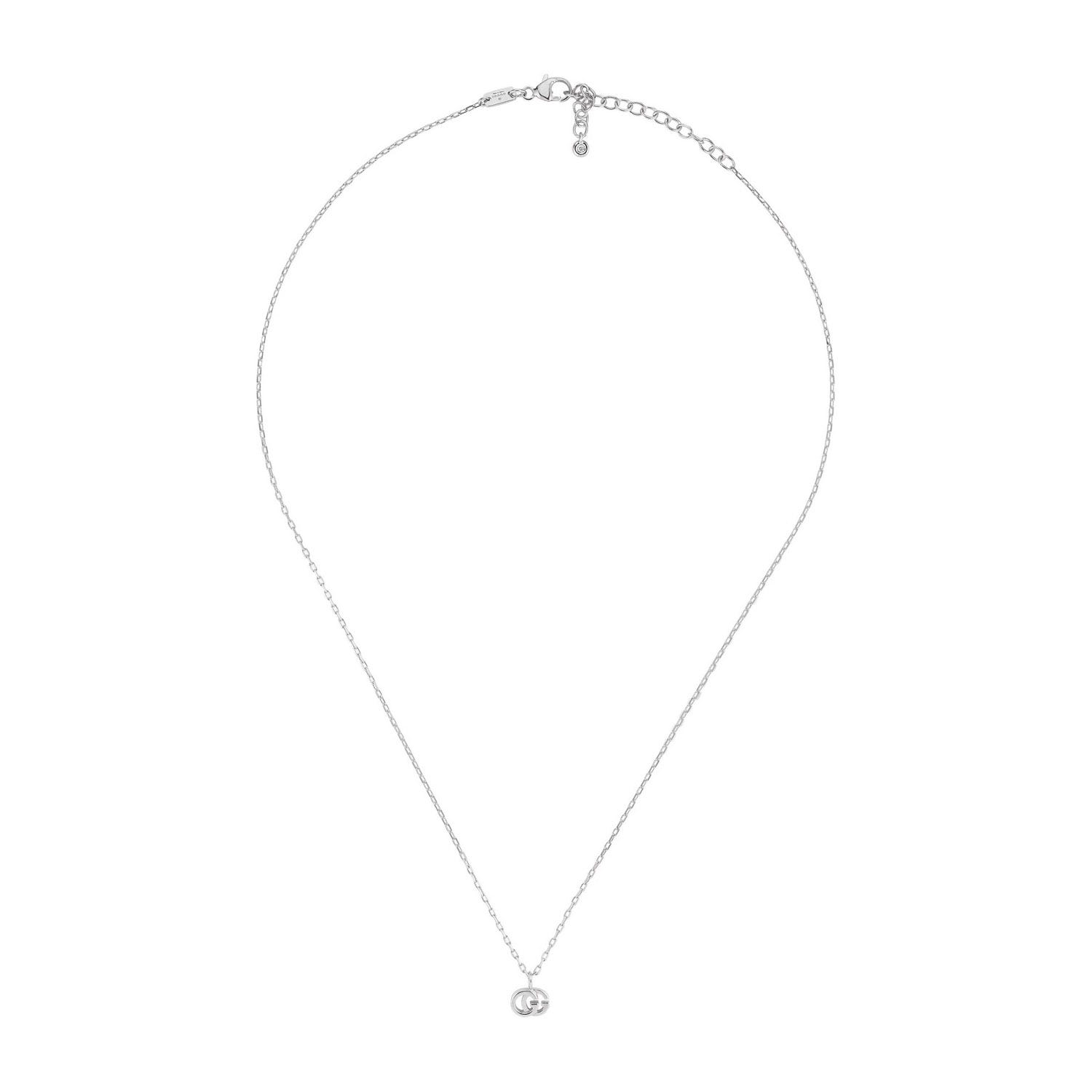 Gucci GG Running 18ct White Gold and Diamond Necklace