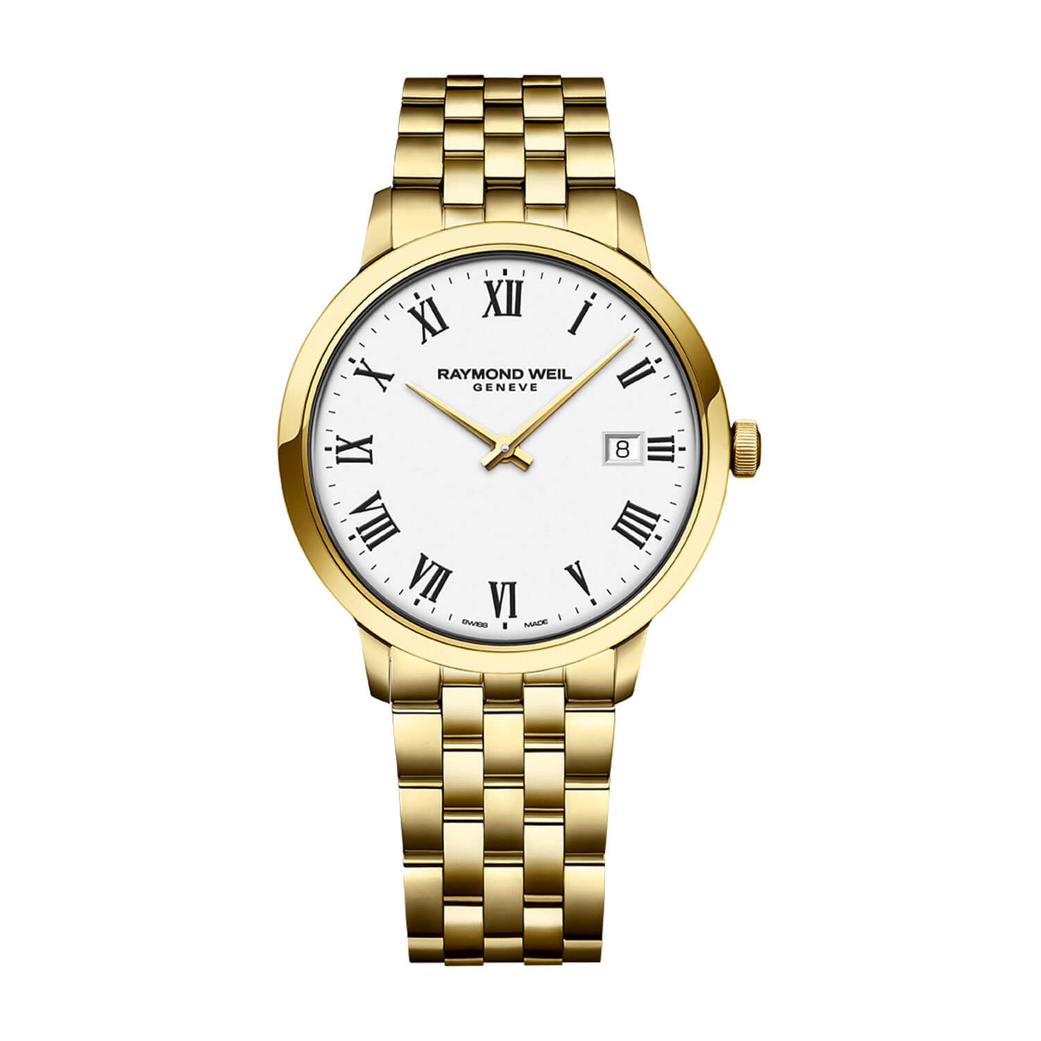 Raymond Weil Toccata White Dial & Yellow Gold PVD Bracelet Men's Watch