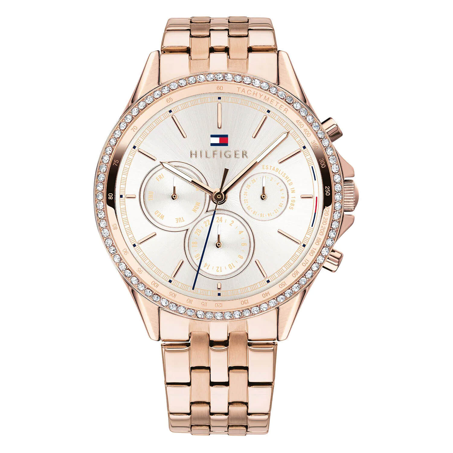 Tommy Hilfiger Carnation Gold-Tone Stainless Steel Ladies Watch