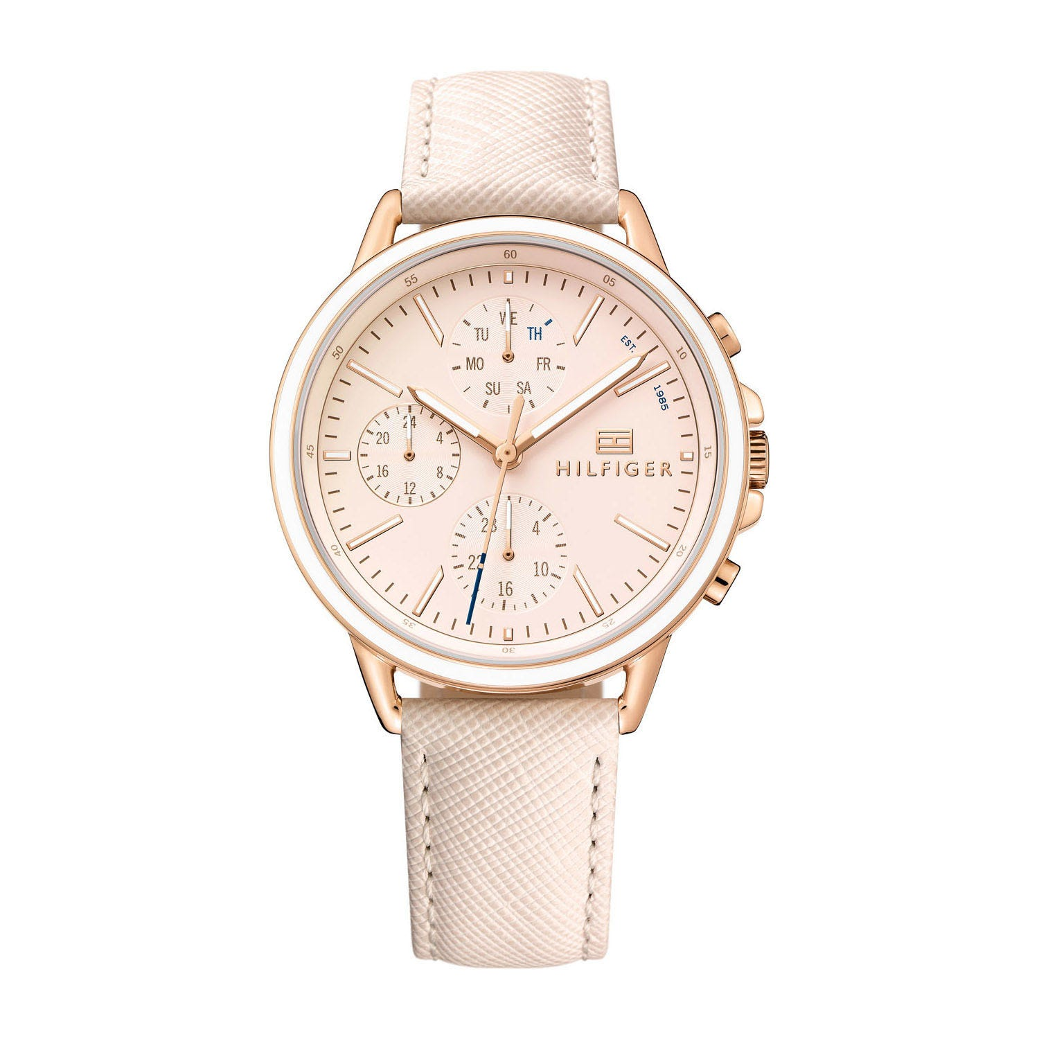 Tommy Hilfiger Rose Chronograph Dial & Leather Strap Ladies' Watch