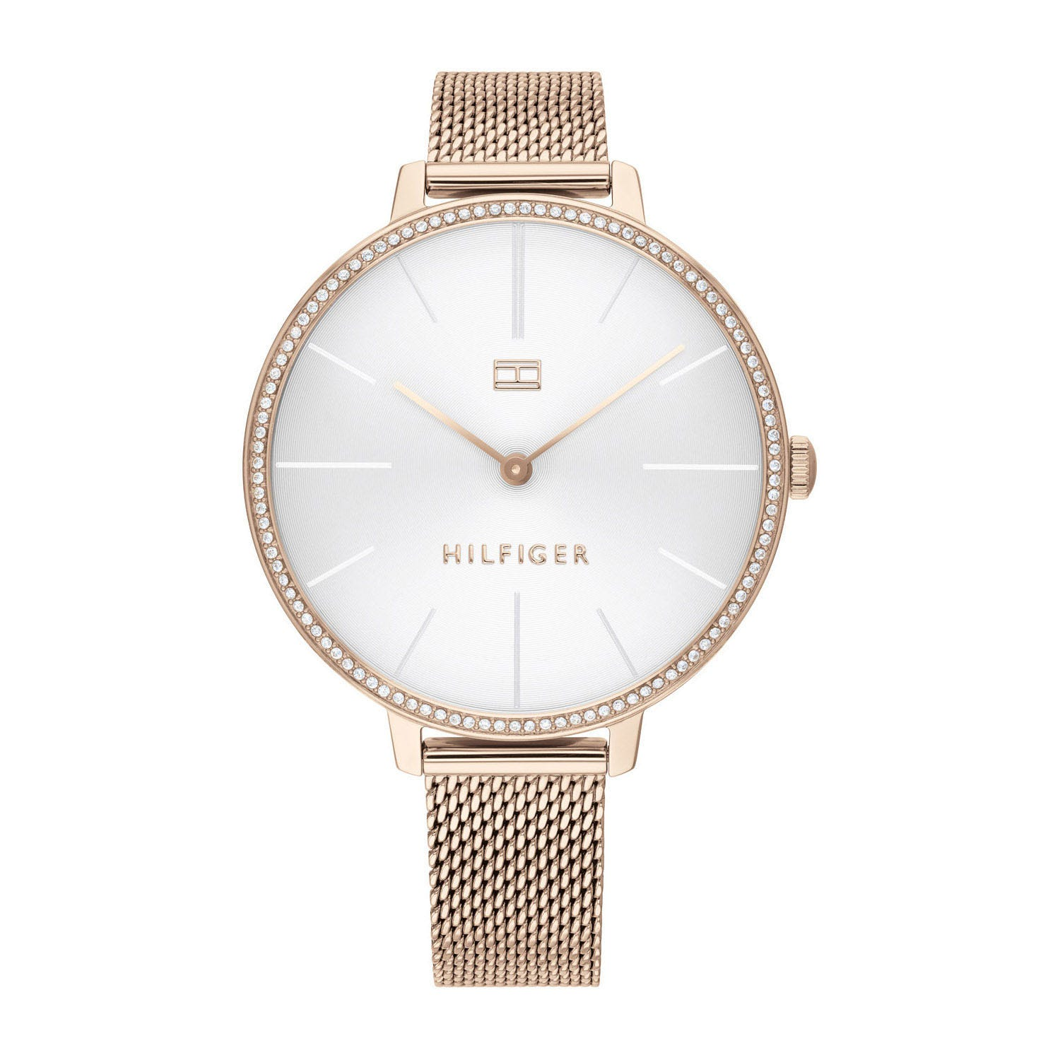 Tommy Hilfiger Rose Gold-Tone Dial & Mesh Bracelet Ladies' Watch