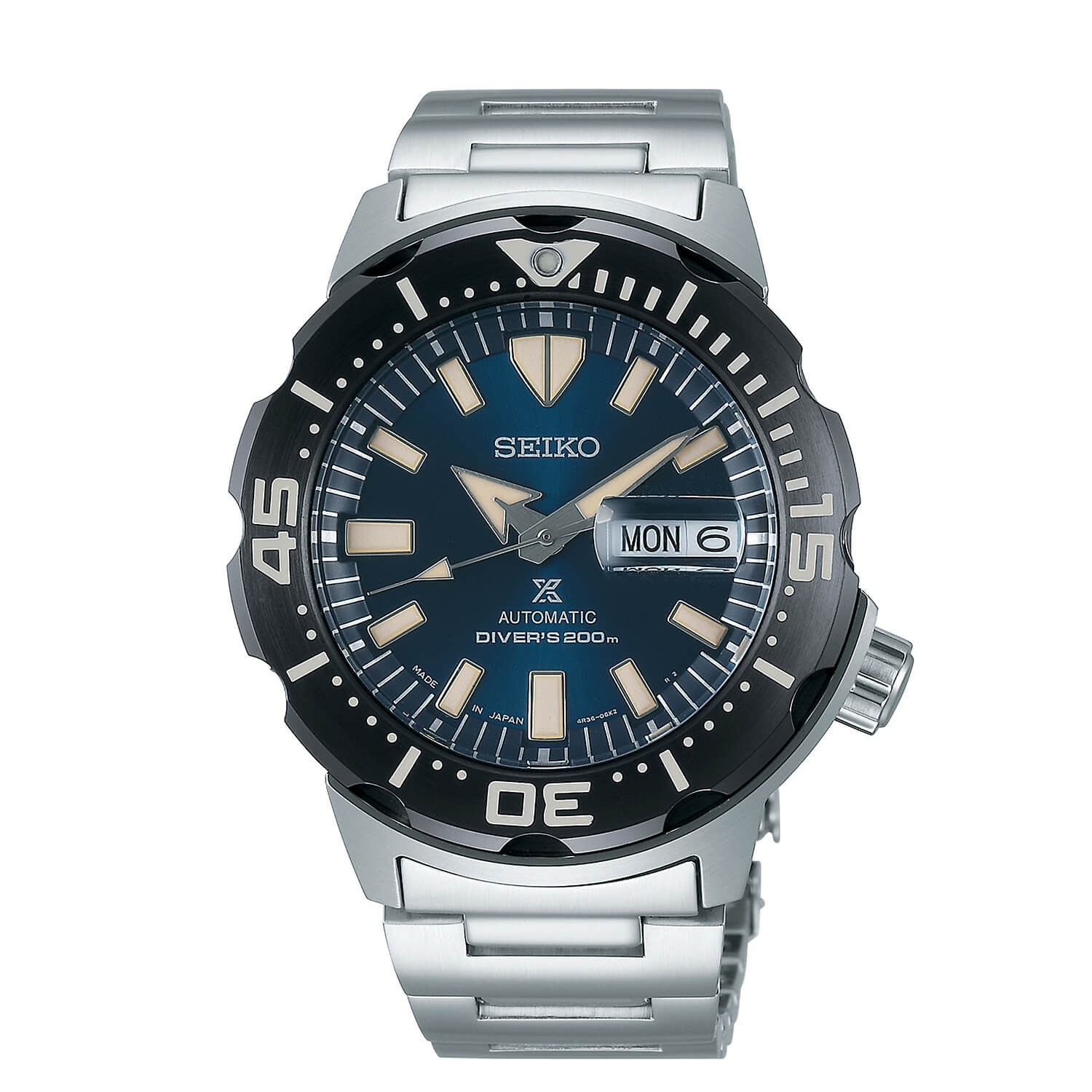 Seiko Prospex Automatic Blue Dial & Steel Divers Watch