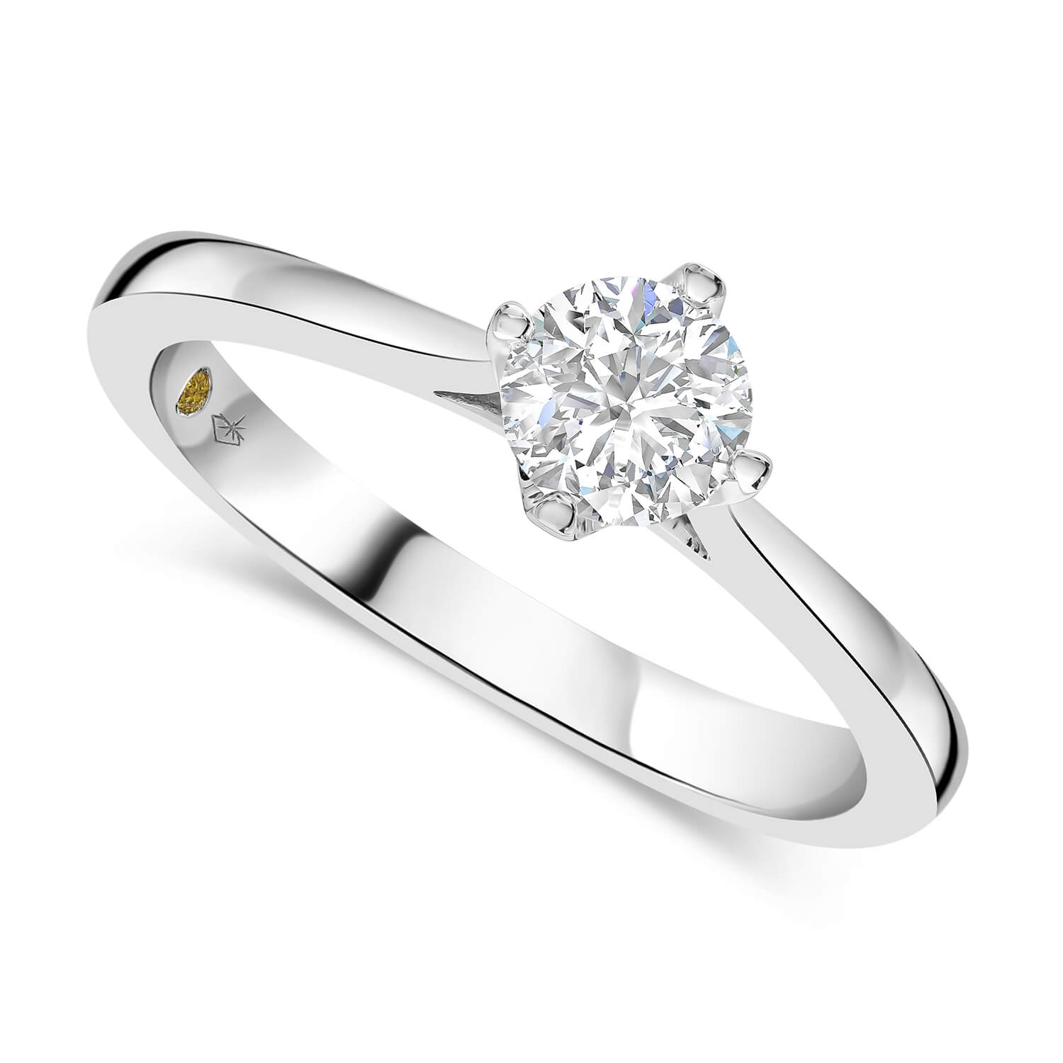 Northern Star 18ct White Gold Solitaire 0.50ct Ladies Ring