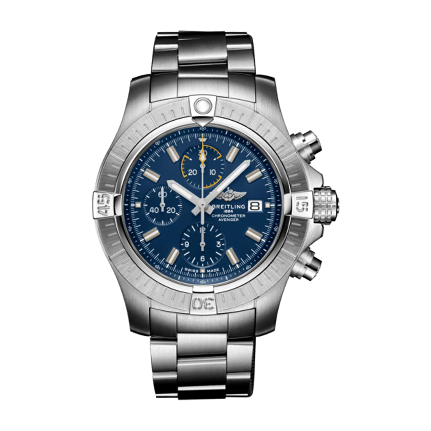 Breitling Avenger Chronograph Blue Dial & Steel 45mm Watch