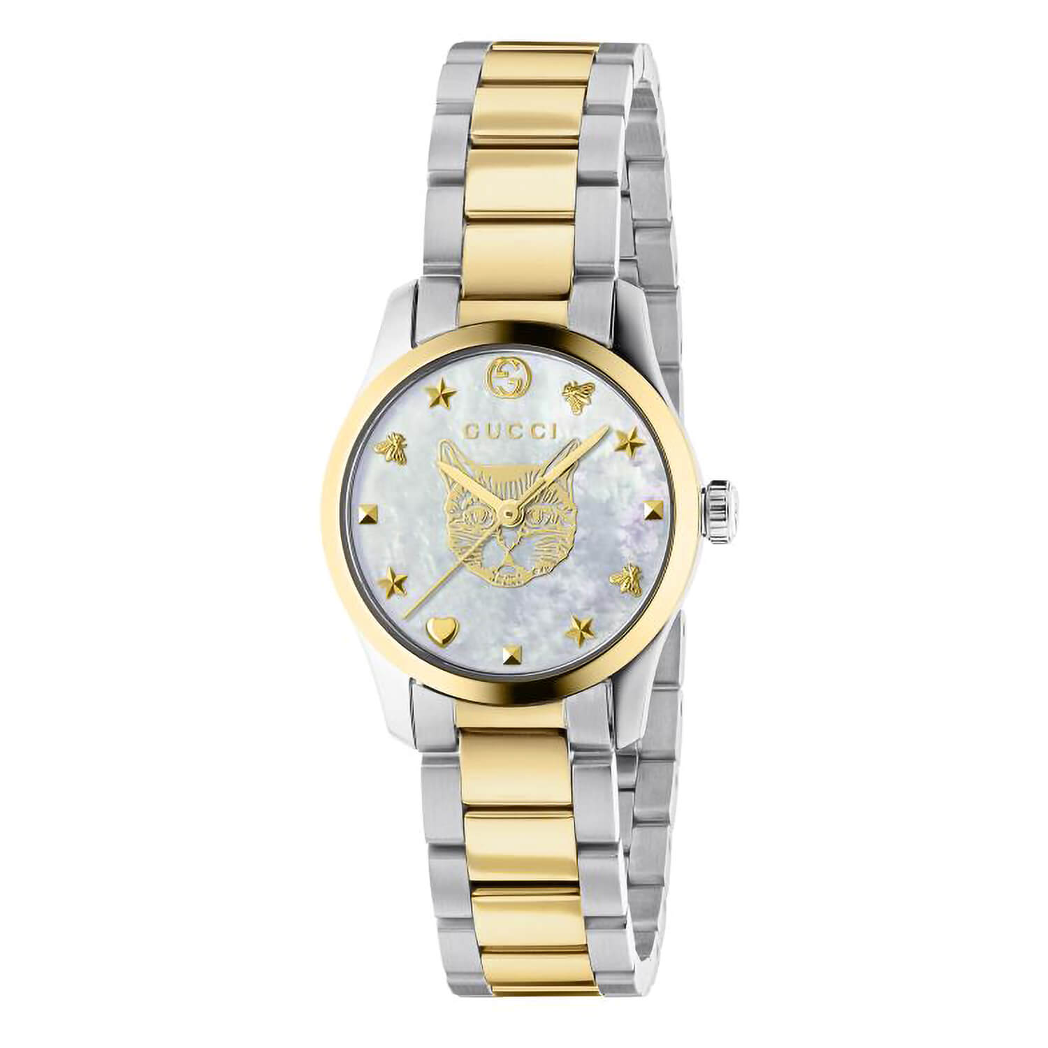 Gucci G-Timeless White Mother of Pearl Dial 27mm Ladies Watch