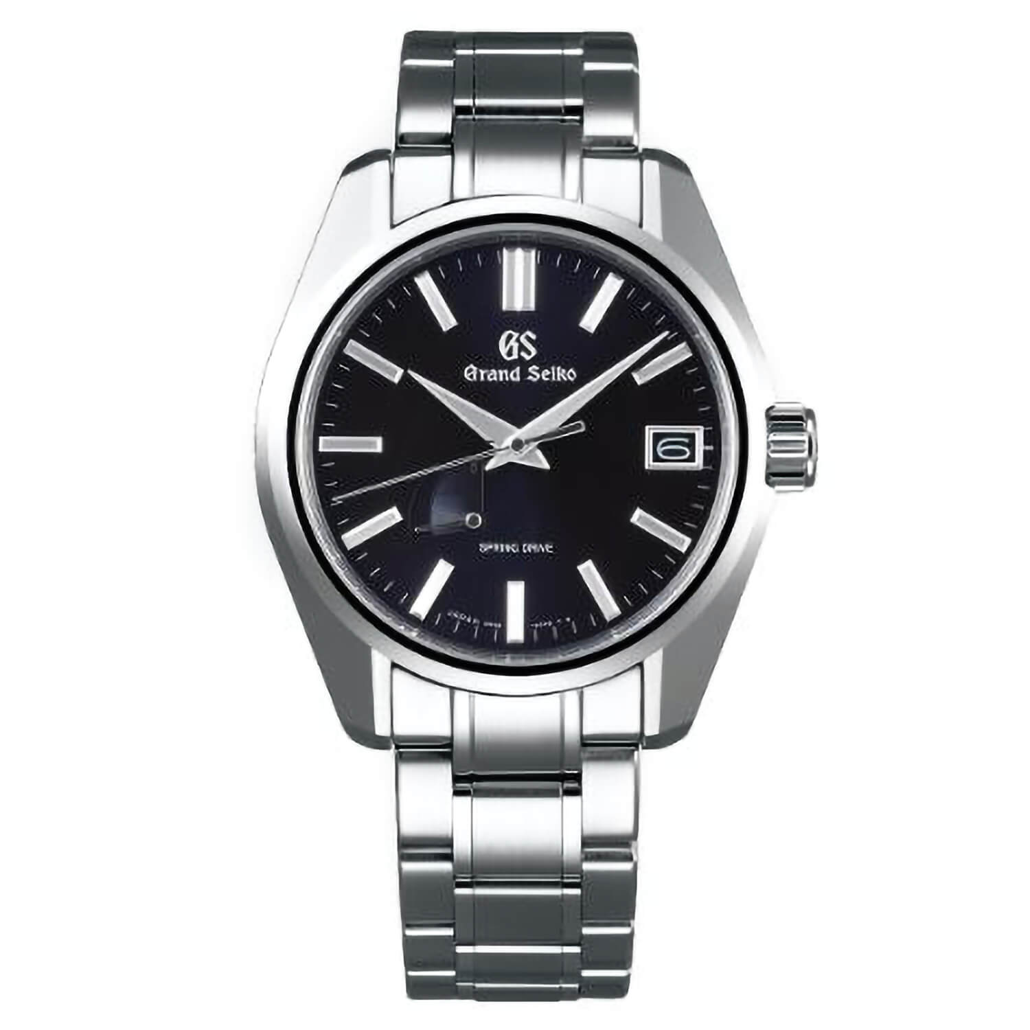 Grand Seiko Heritage Spring Drive Black Dial Stainless Steel Watch