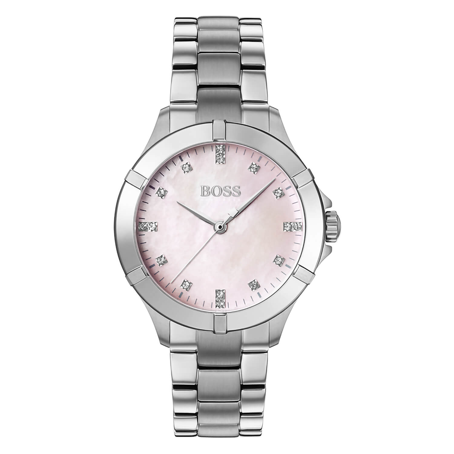 Hugo Boss Mini Sport Dial Pink Mother Of  Pearl Dial 32mm Ladies Watch