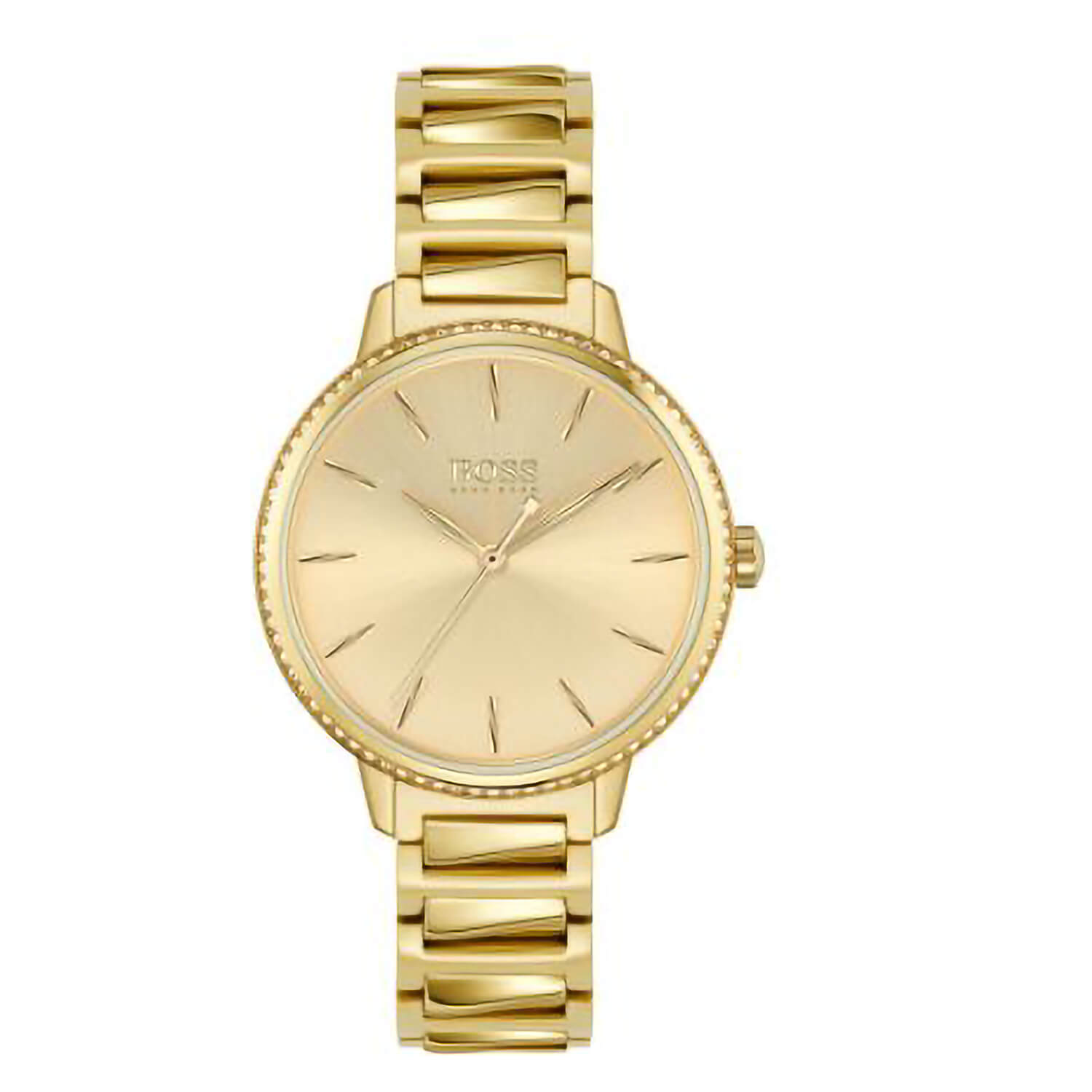 Hugo Boss Signature Gold Dial 34mm Ladies Watch
