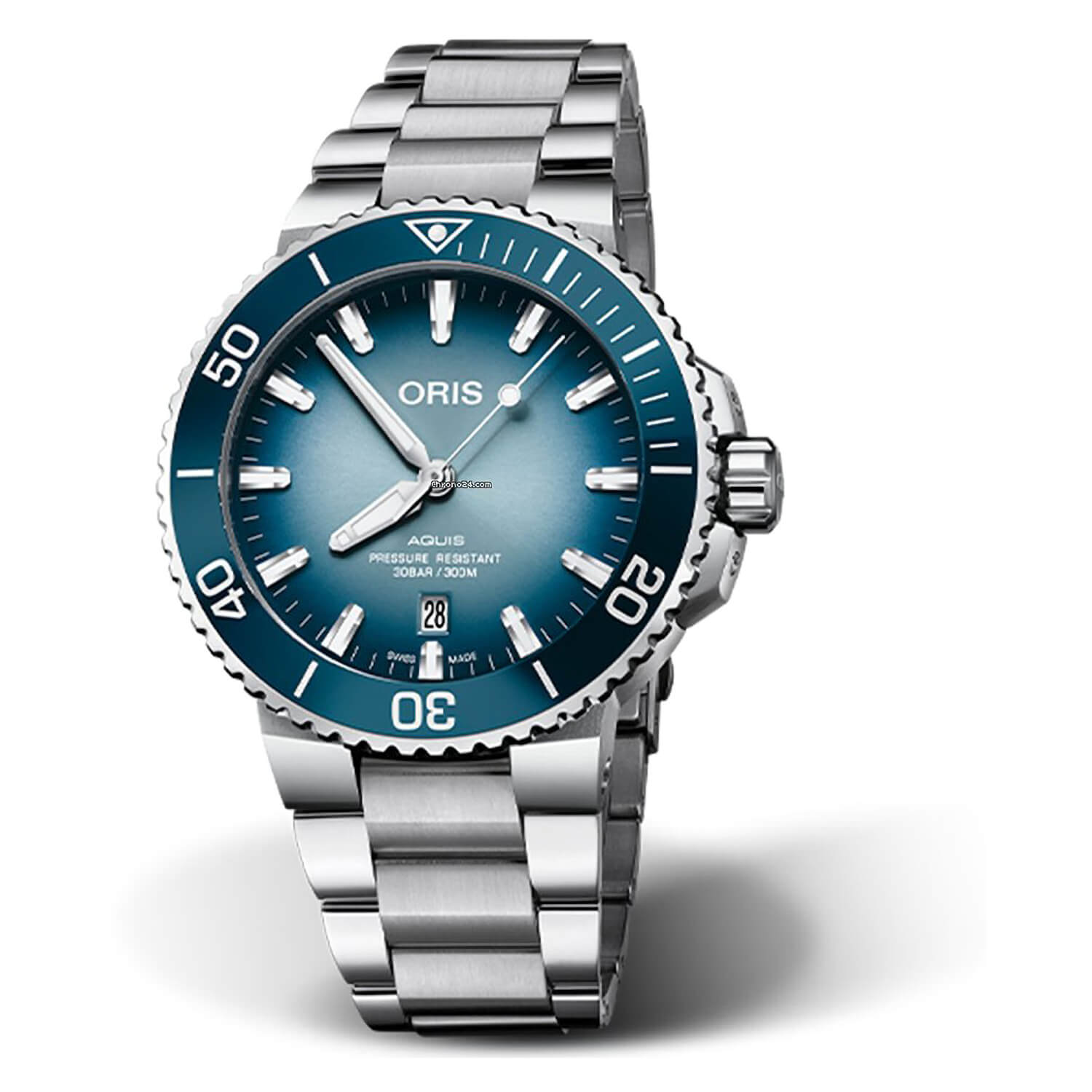 Oris Aquis Limited Edition Lake Baikal 44mm Gradient Blue Dial Watch